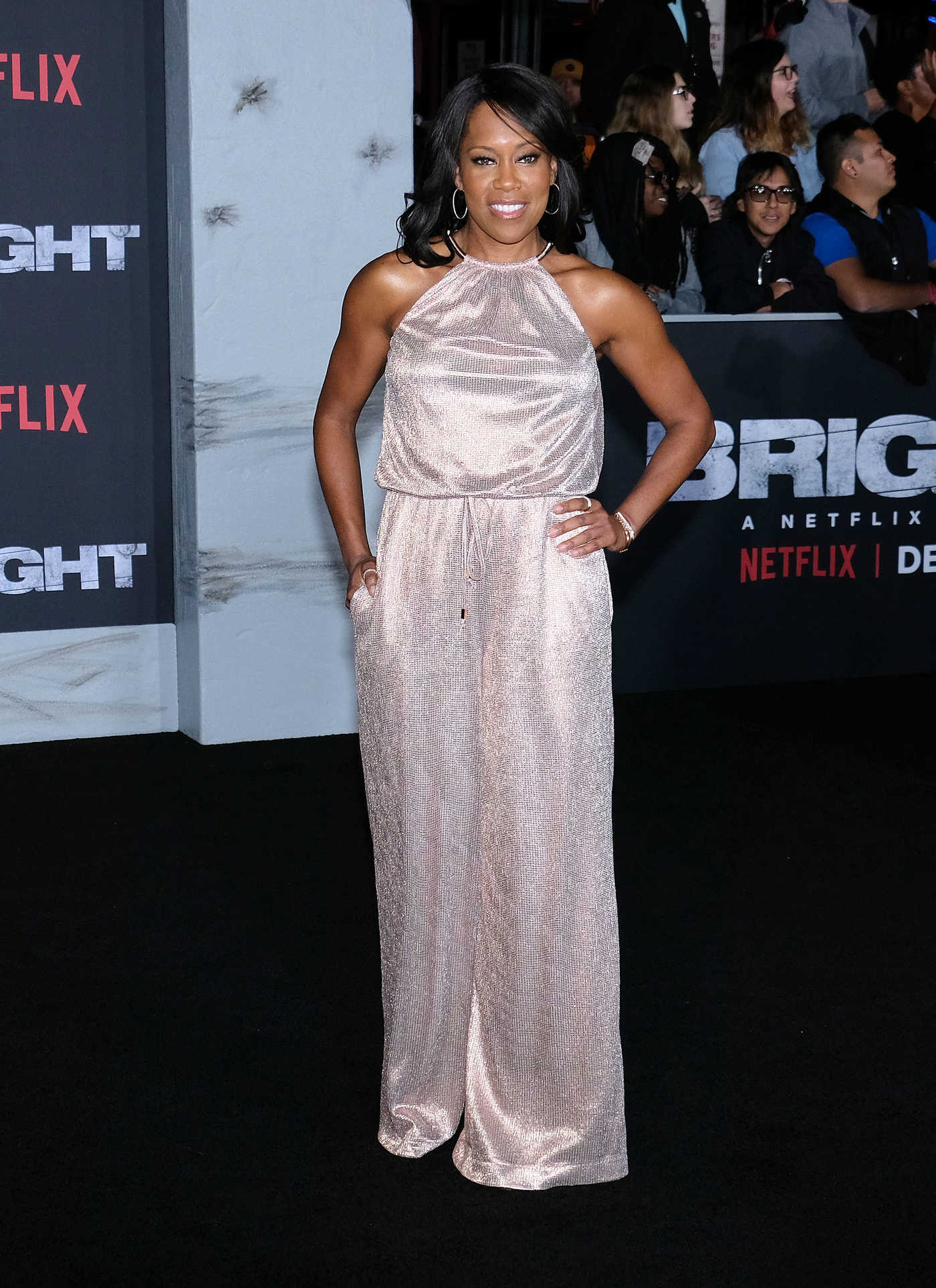 Regina King at the Bright Los Angeles Premiere at the Regency Village Theatre in Westwood 12/13/2017
