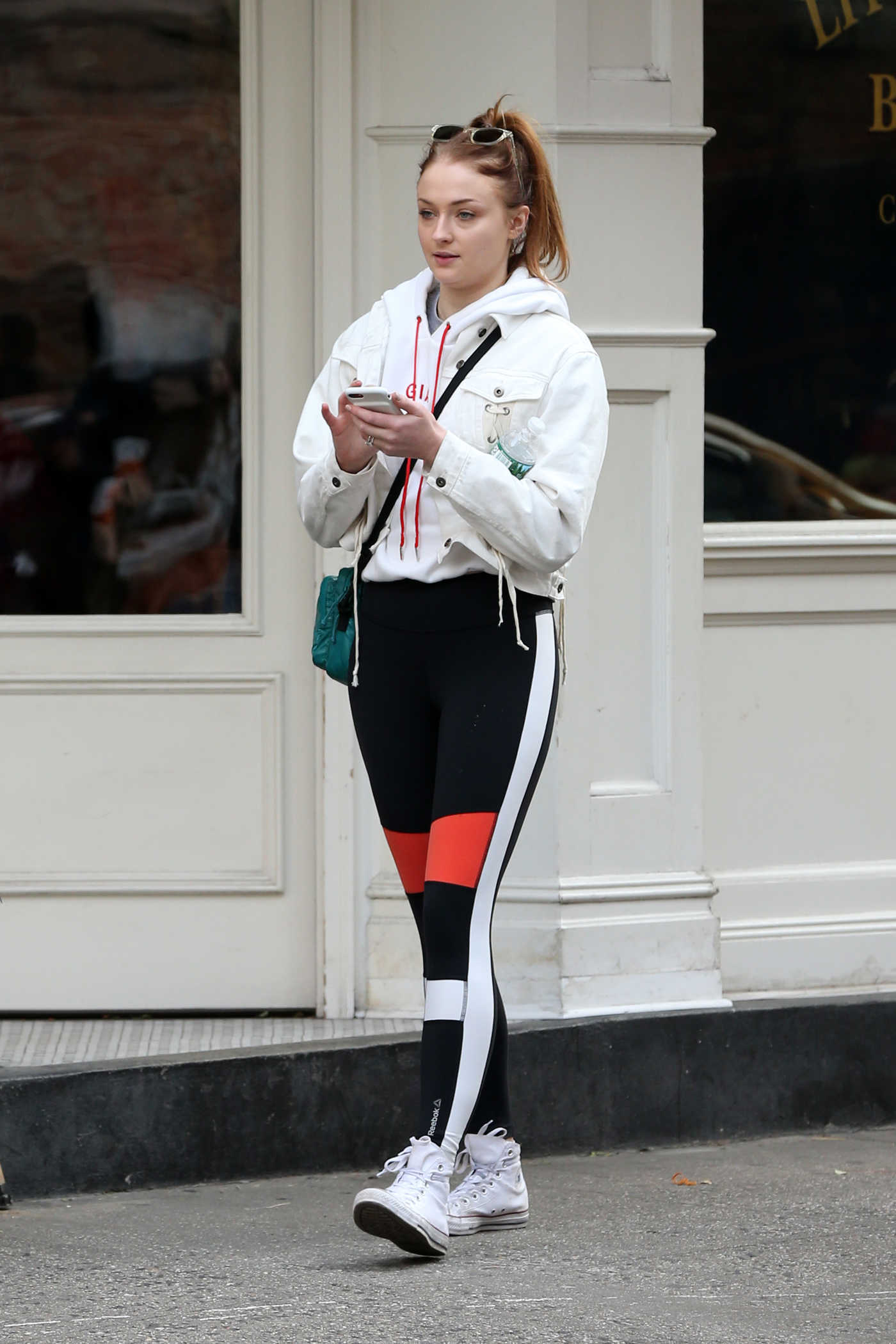 Sophie Turner Stops at Little Cupcake Bakeshop in NYC 12/02/2017