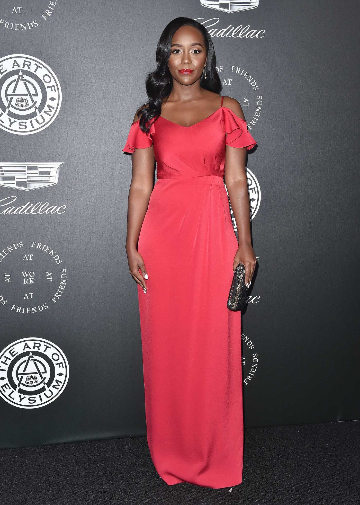 Aja Naomi King at Art of Elysium 11th Annual Heaven Celebration at Barker Hangar in Santa Monica 01/06/2018