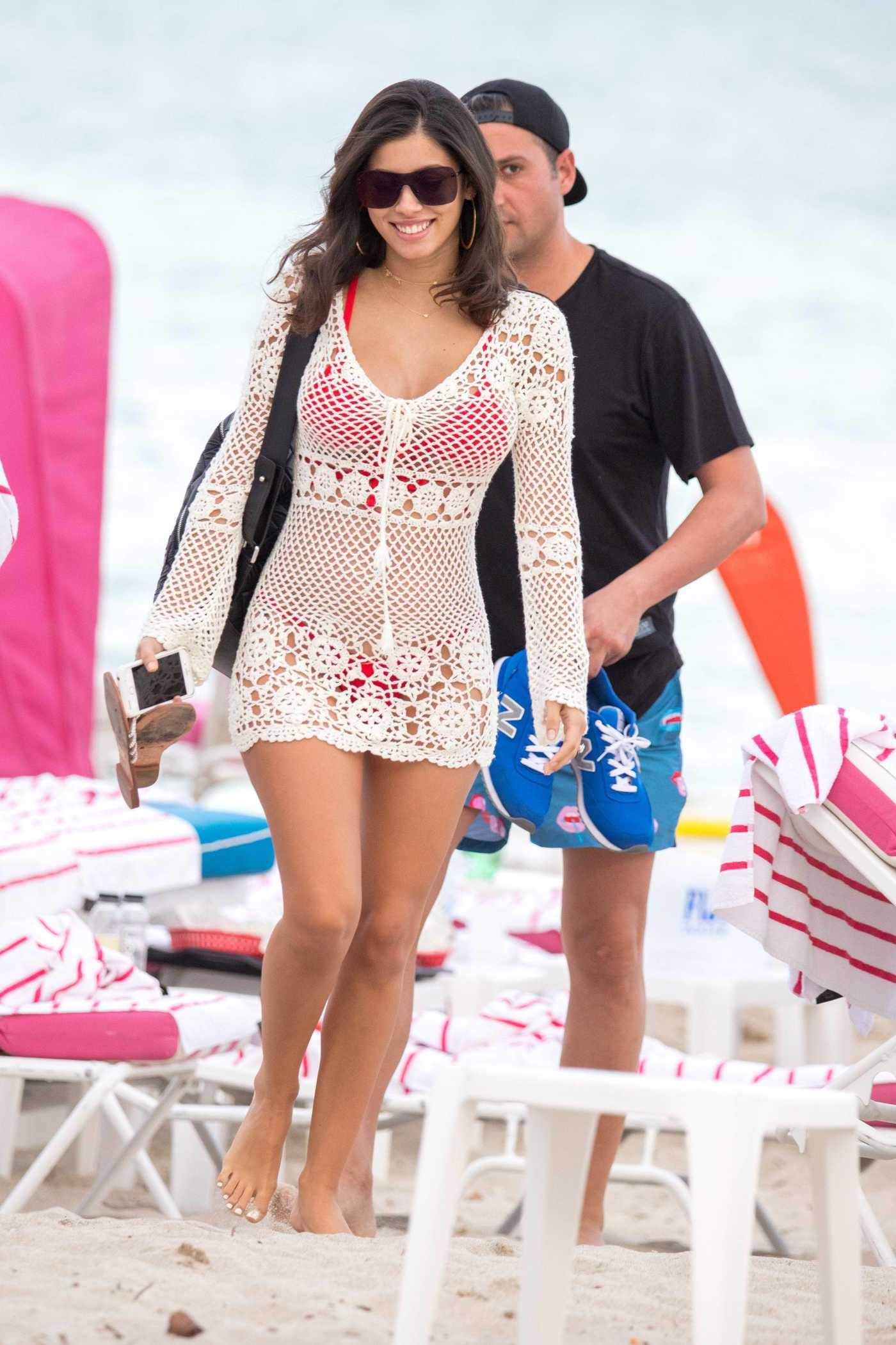 Alexandra Rodriguez in Bikini at the Beach in Miami 01/01/2018