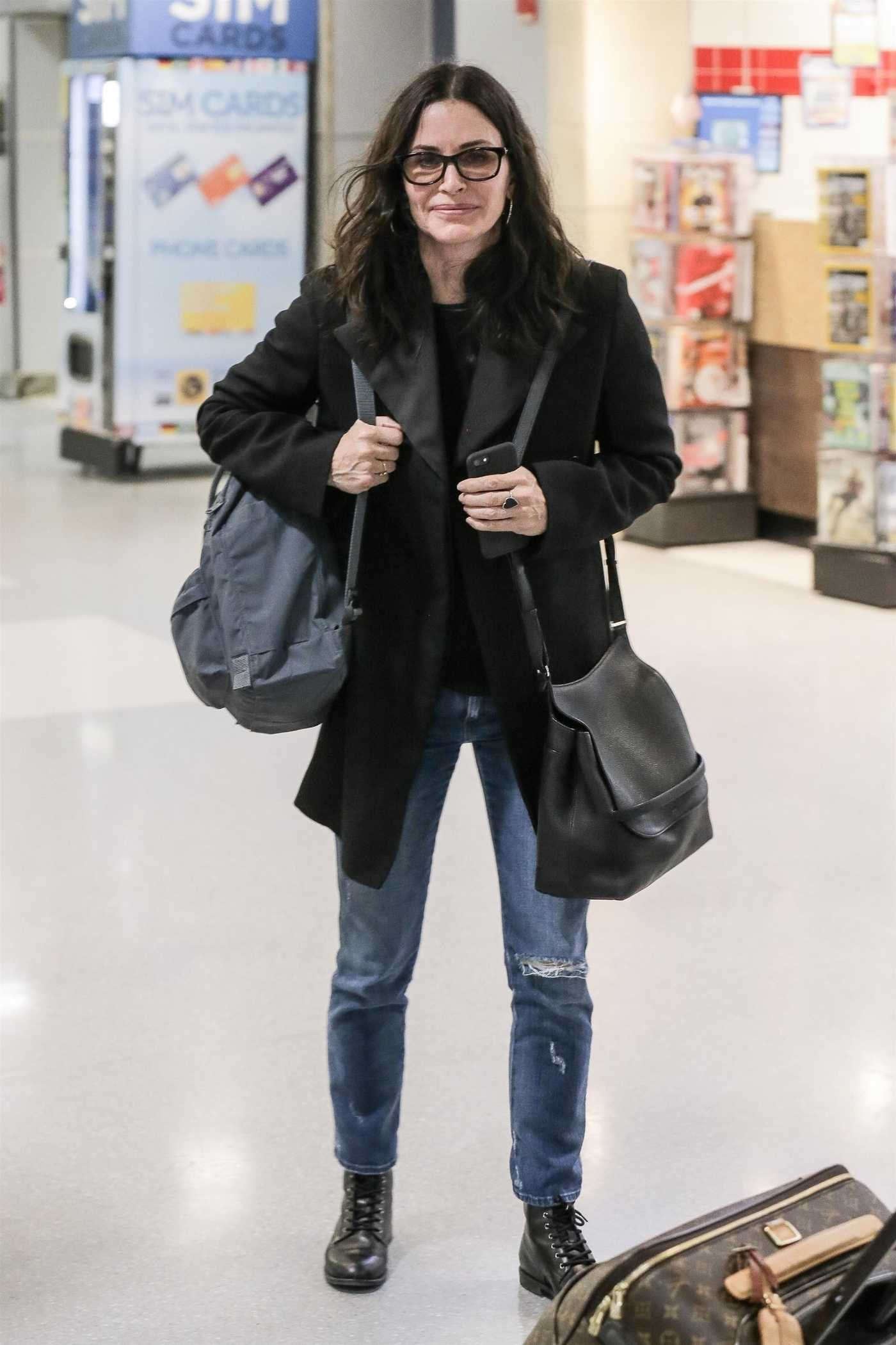 Courteney Cox at JFK Airport in New York City 01/17/2018
