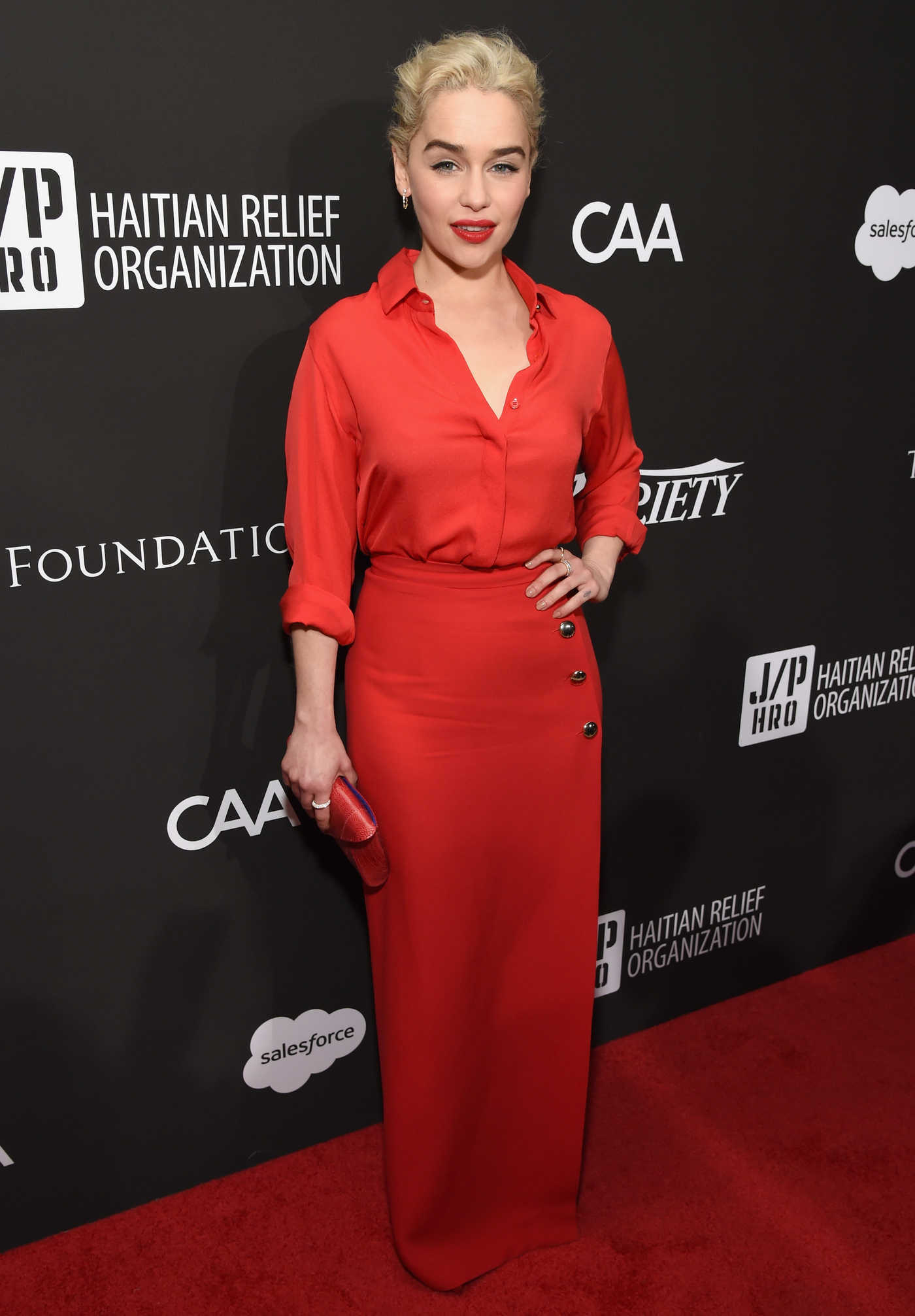 Emilia Clarke at the 7th Annual Sean Penn and Friends HAITI RISING Gala Benefiting J/P Haitian Relief Organization in Hollywood 01/06/2018