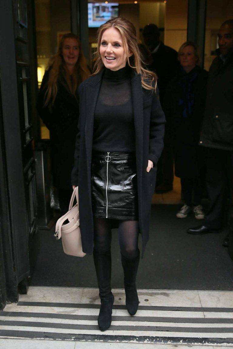 Geri Halliwell Leaves BBC Radio Two Studios in London 01/26/2018-1