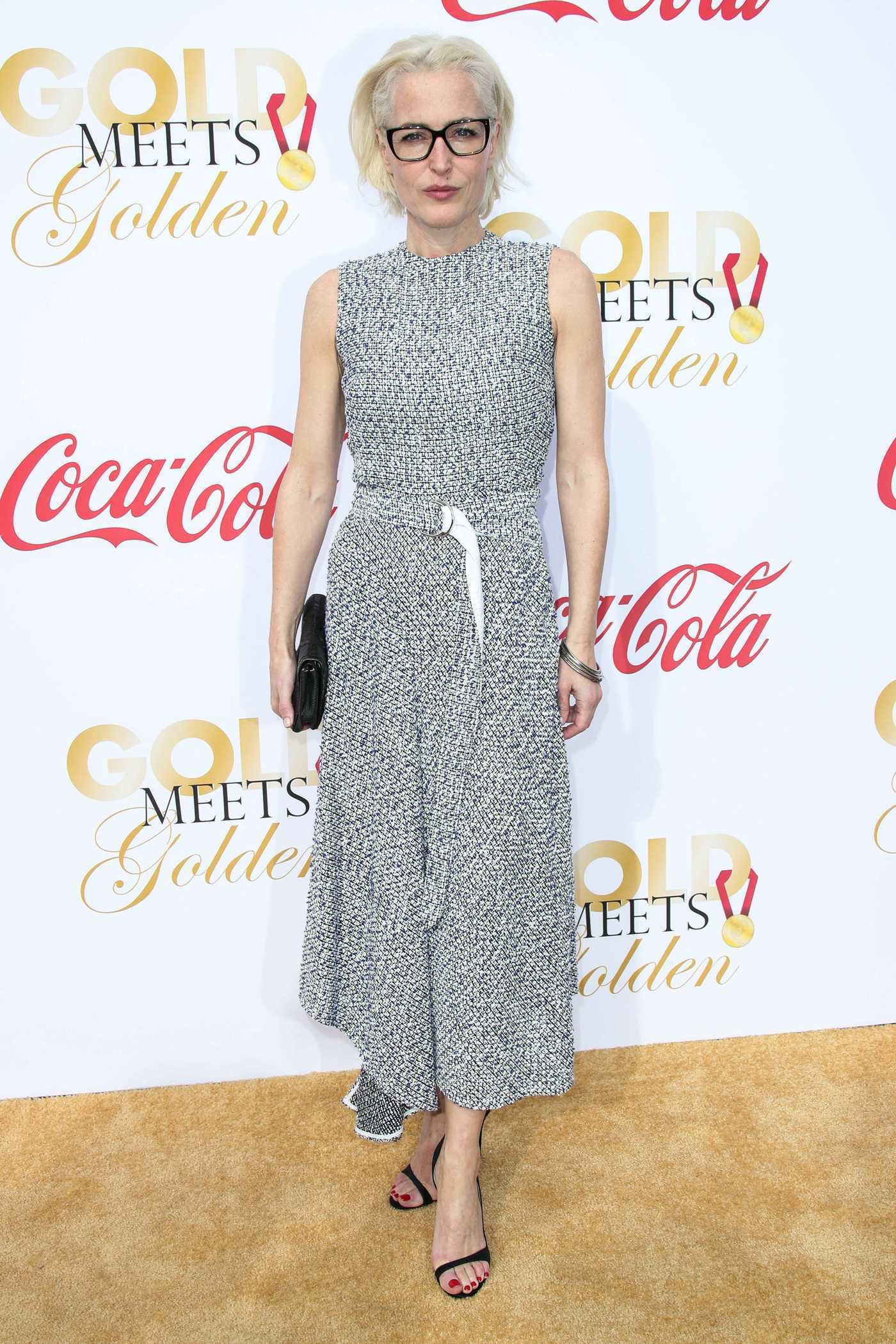 Gillian Anderson Arrives at the Gold Meets Golden 5th Anniversary Party in LA 01/06/2018