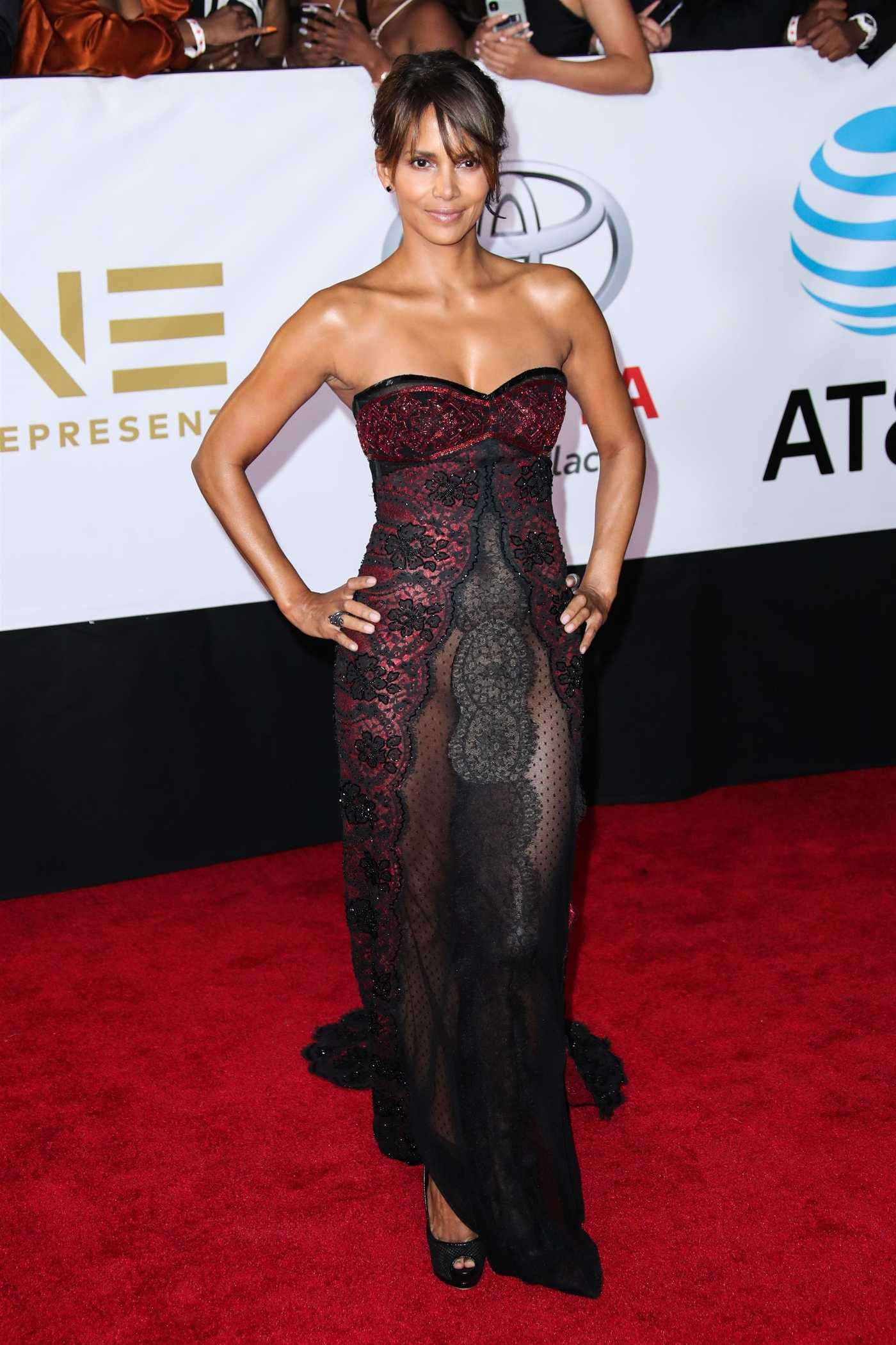 Halle Berry at the 49th NAACP Image Awards Dinner and Ceremony in Pasadena 01/15/2018