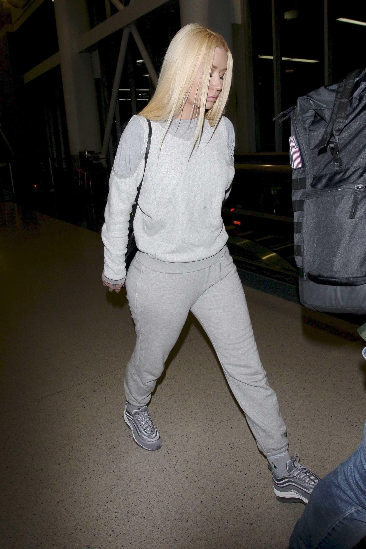 Iggy Azalea Lands at LAX Airport in LA 01/27/2018
