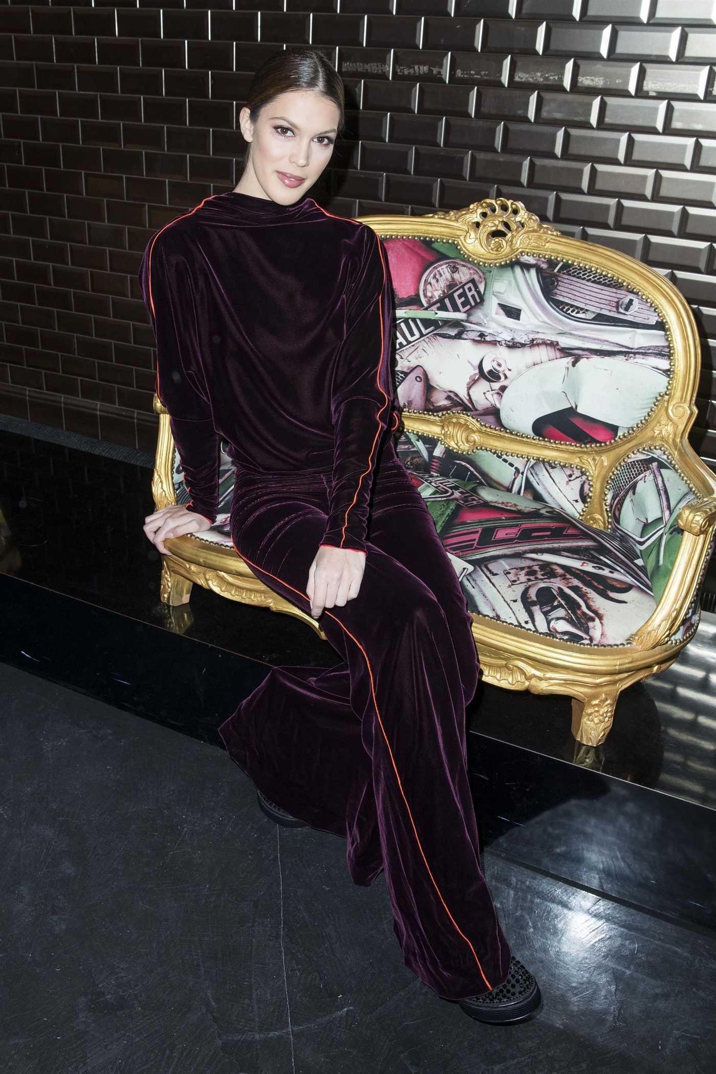 Iris Mittenaere at the Jean Paul Gaultier 2018 Show During the Paris Fashion Week in Paris 01/24/2018