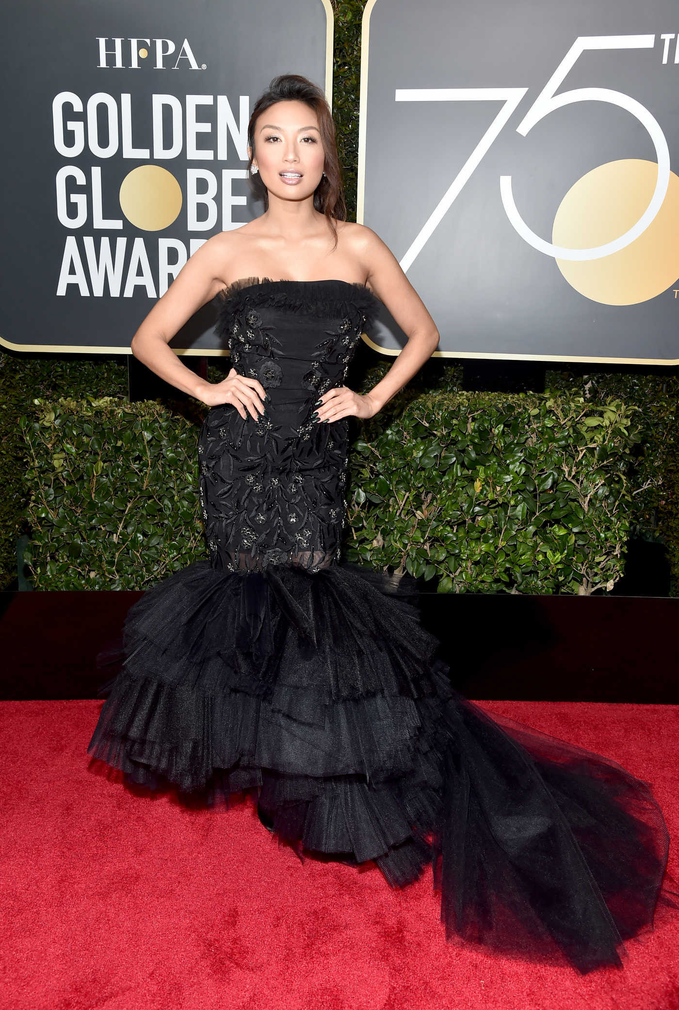 Jeannie Mai at the 75th Annual Golden Globe Awards in Beverly Hills 01/07/2018