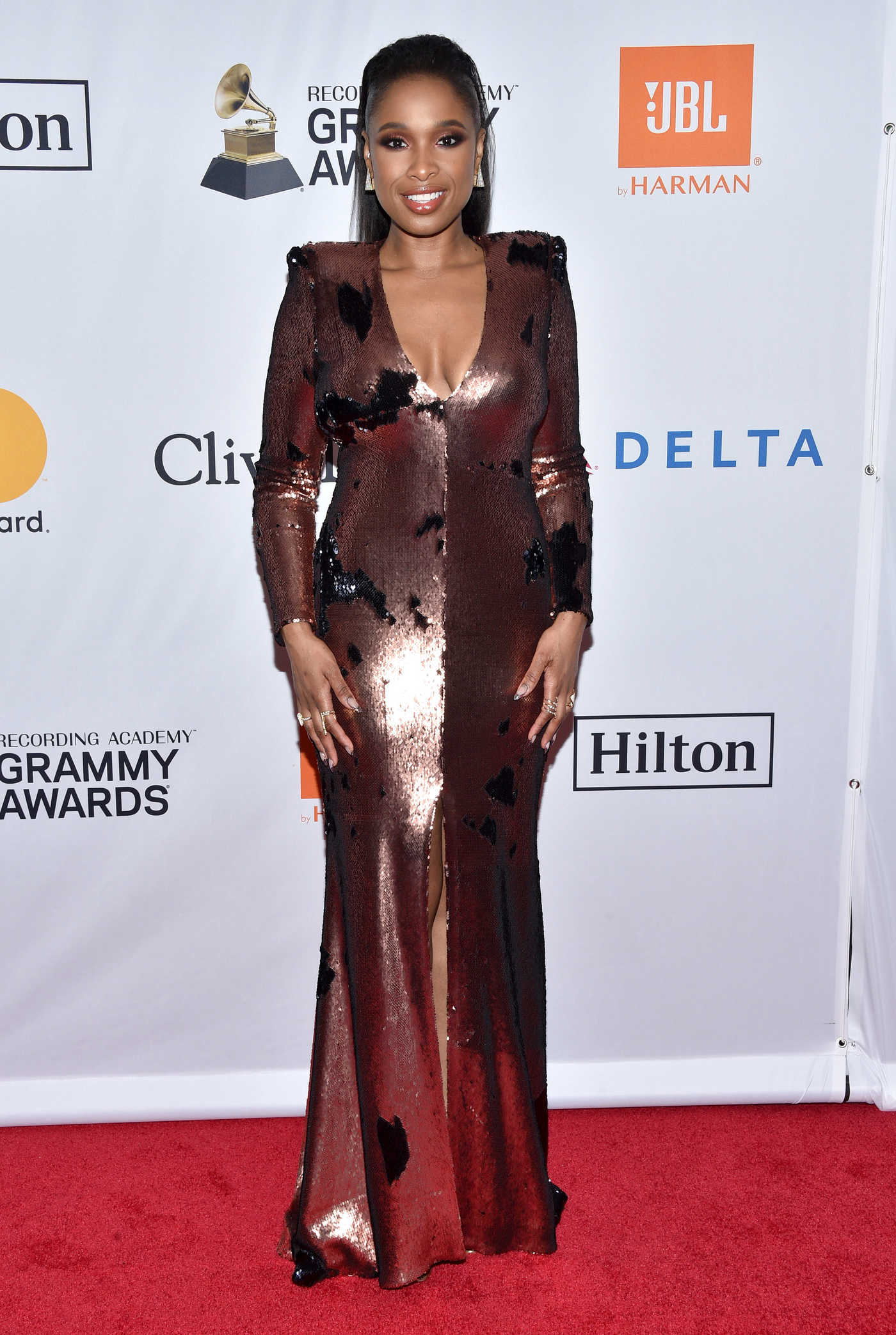 Jennifer Hudson at the Clive Davis and Recording Academy Pre-Grammy Gala and Grammy Salute to Industry Icons in New York 01/27/2018