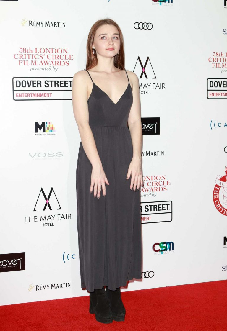 Jessica Barden at the 38th London Critic's Circle Film Awards in London 01/28/2018-1