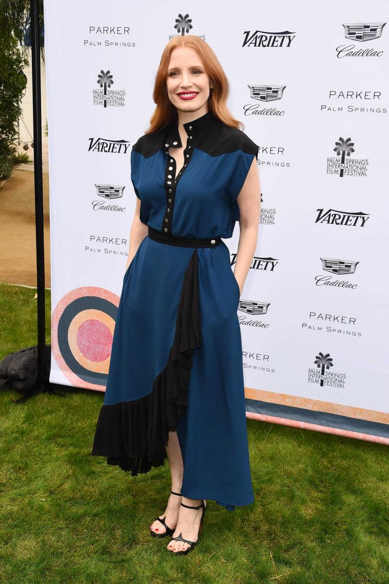 Jessica Chastain at Variety's Creative Impact Awards and 10 Directors to Watch in Palm Springs 01/03/2017-1