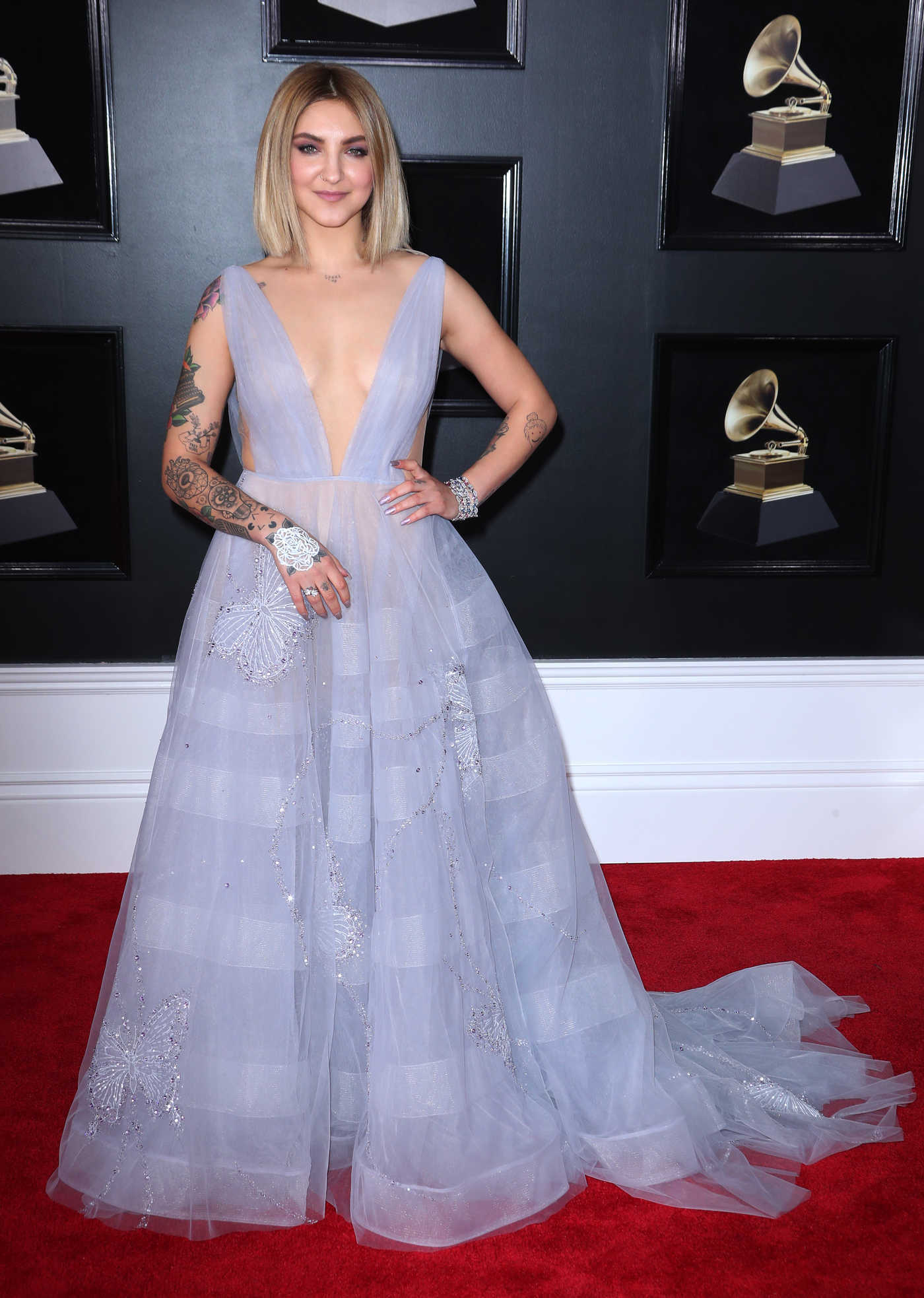 Julia Michaels at the 60th Annual Grammy Awards at Madison Square Garden in New York City 01/28/2018