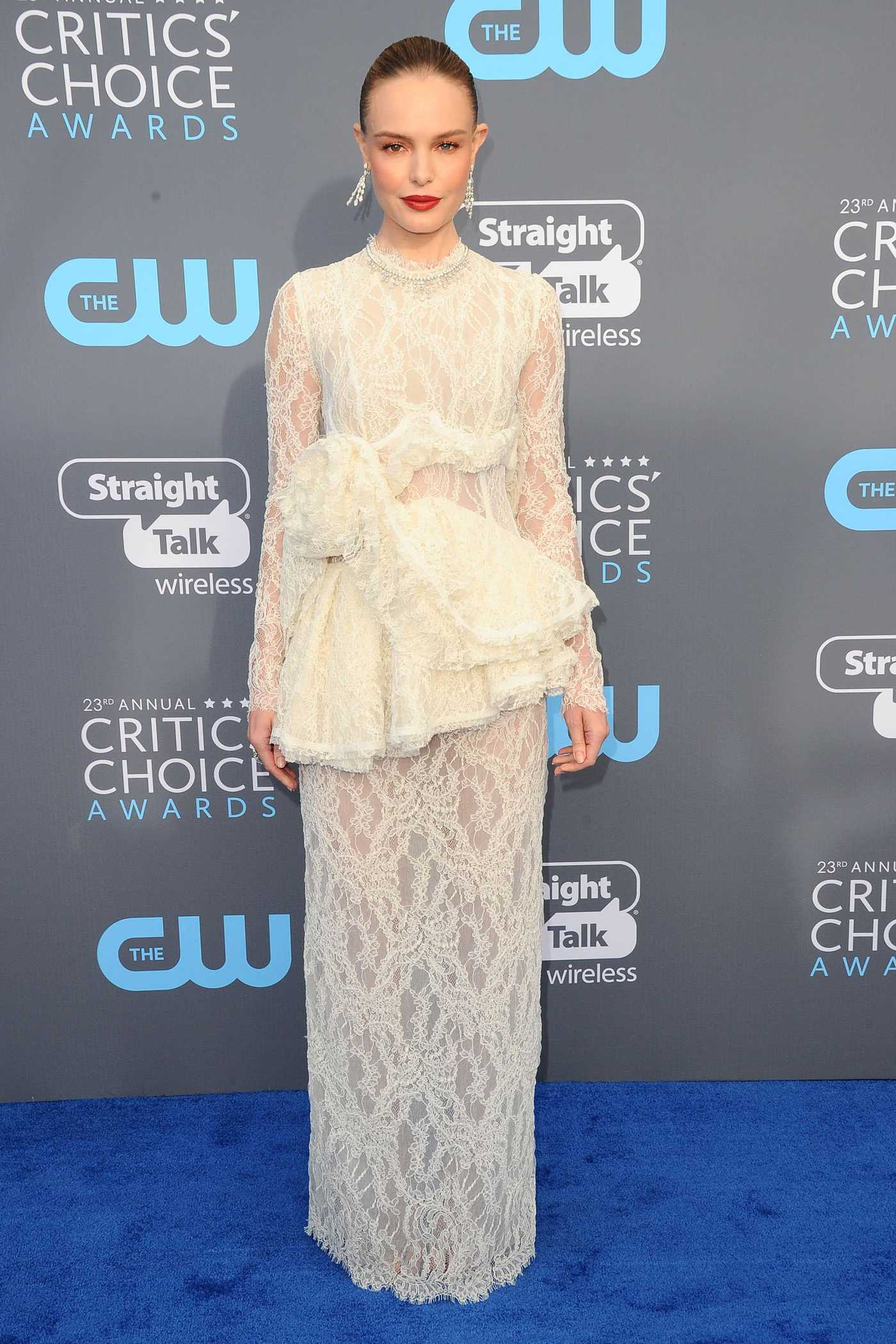 Kate Bosworth at the 23rd Annual Critics' Choice Awards in Santa Monica 01/11/2018