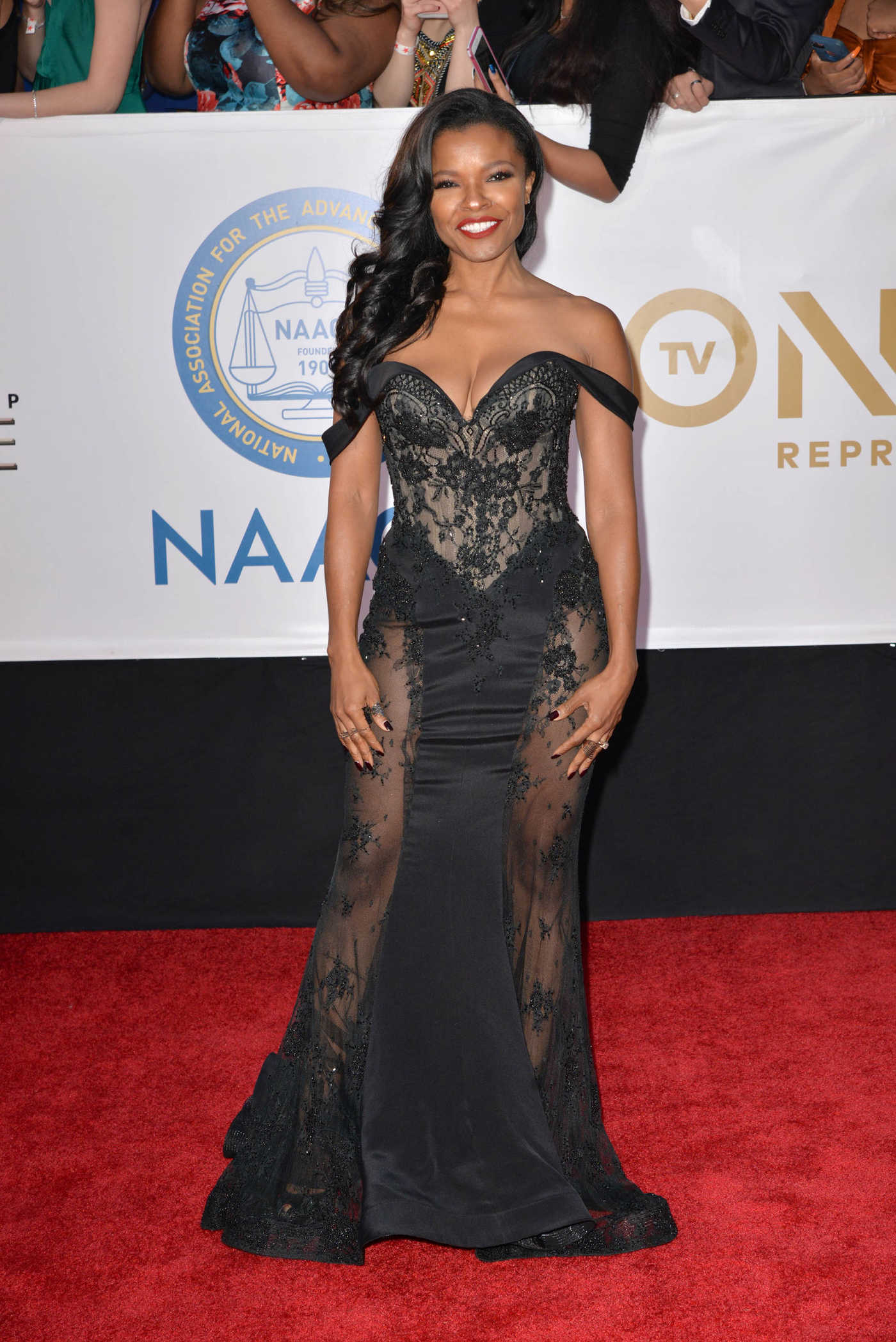 Keesha Sharp at the 49th NAACP Image Awards Dinner and Ceremony in Pasadena 01/15/2018