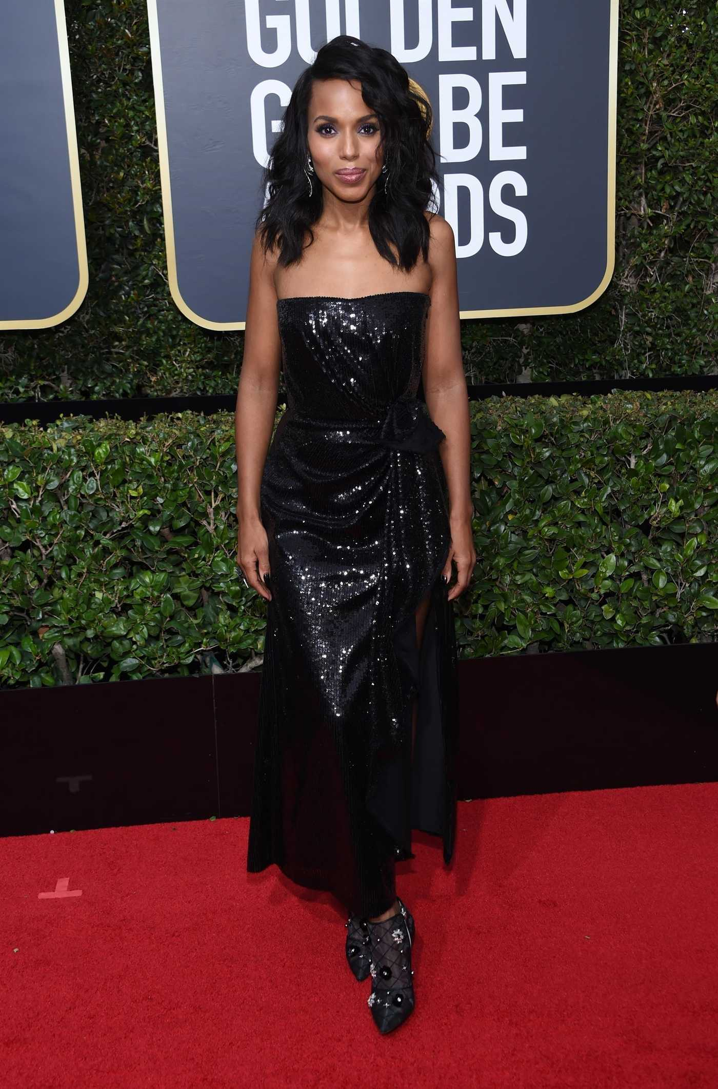Kerry Washington at the 75th Annual Golden Globe Awards in Beverly Hills 01/07/2018