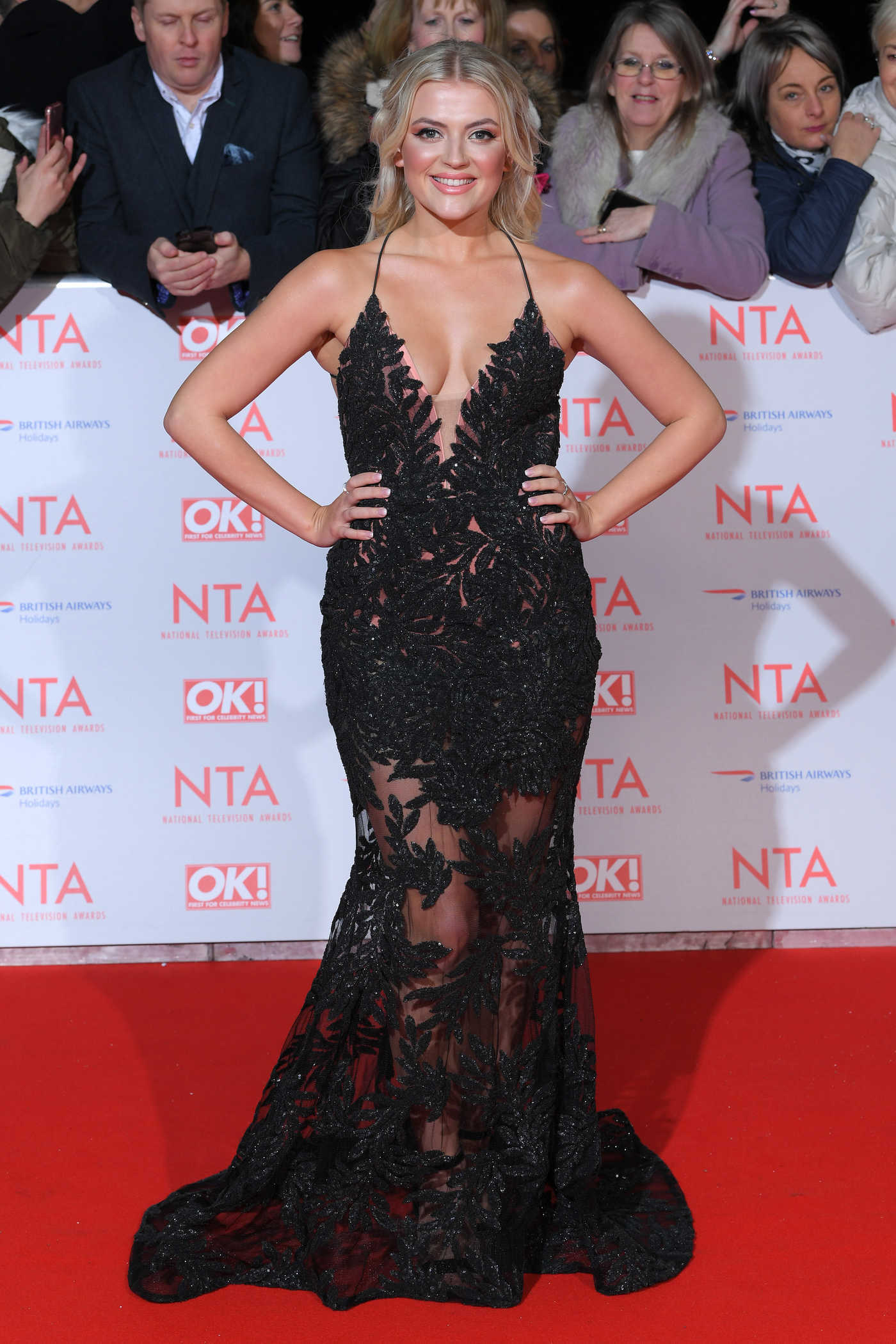Lucy Fallon at the 24th National Television Awards in London 01/24/2018