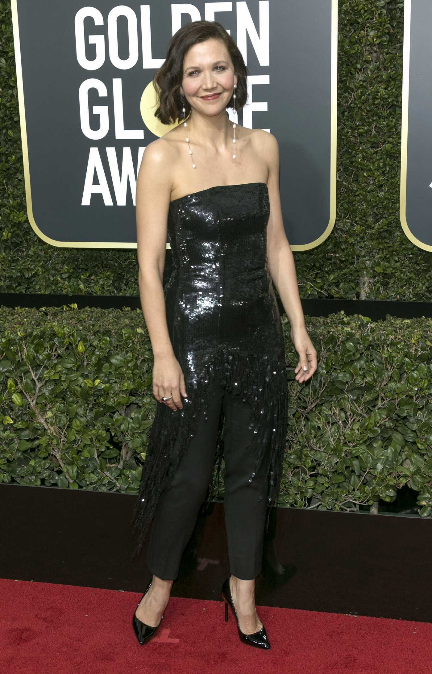 Maggie Gyllenhaal at the 75th Annual Golden Globe Awards in Beverly Hills 01/07/2018