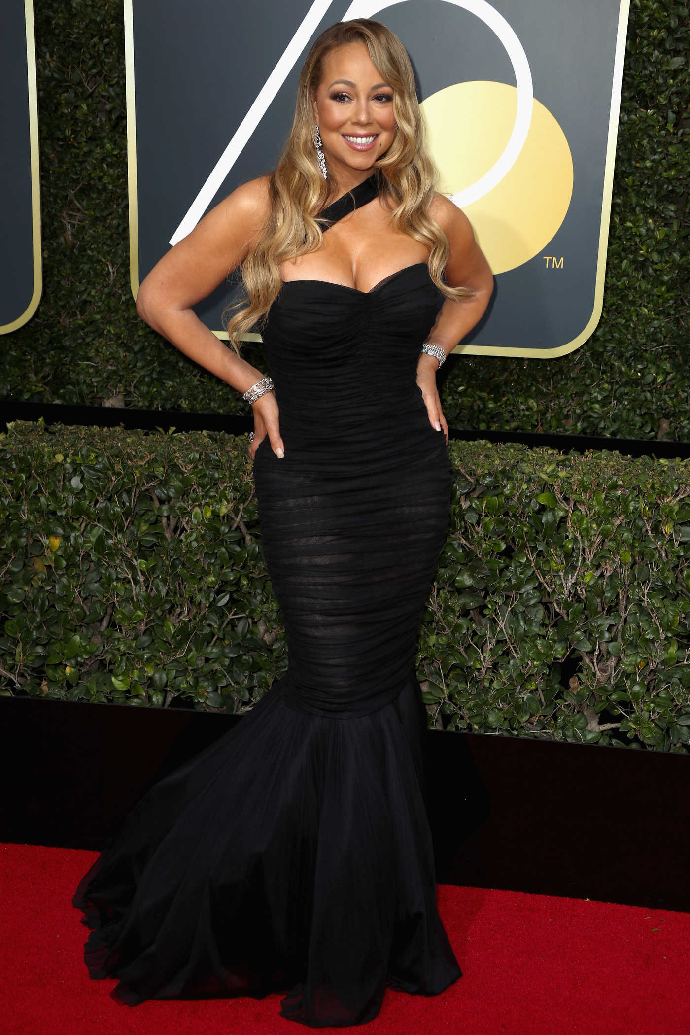 Mariah Carey at the 75th Annual Golden Globe Awards in Beverly Hills 01/07/2018