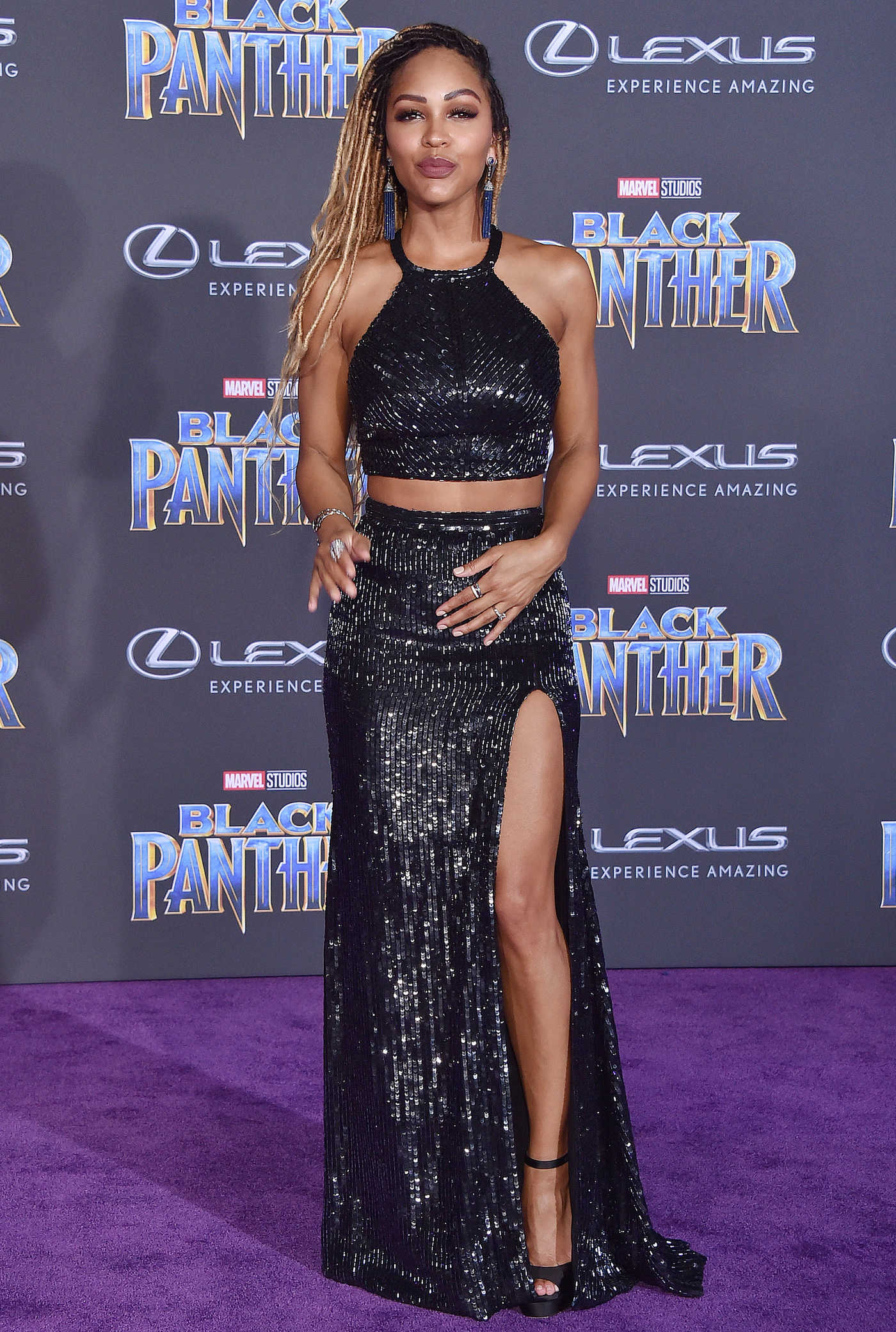 Meagan Good at the Black Panther Premiere in Hollywood 01/29/2018