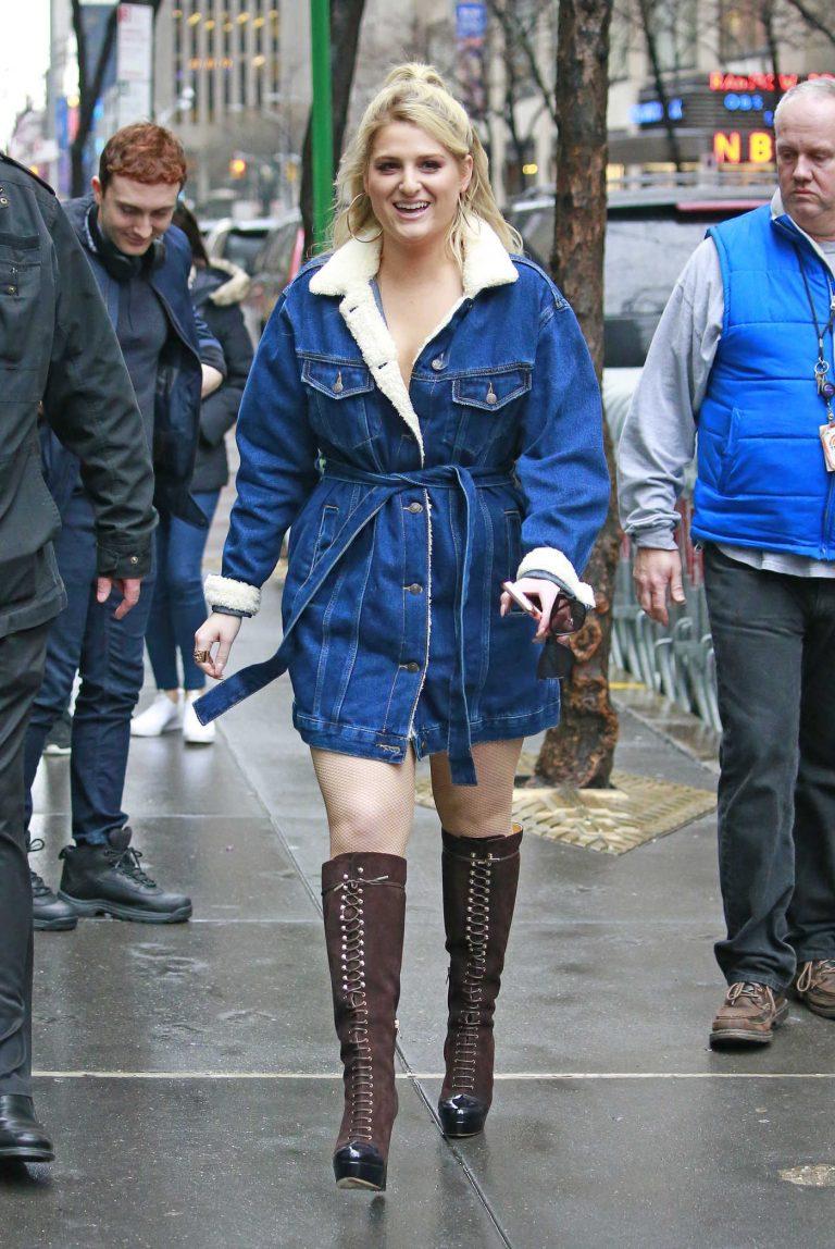 Meghan Trainor Wears a Denim Jacket Out in New York City 01/23/2018-1