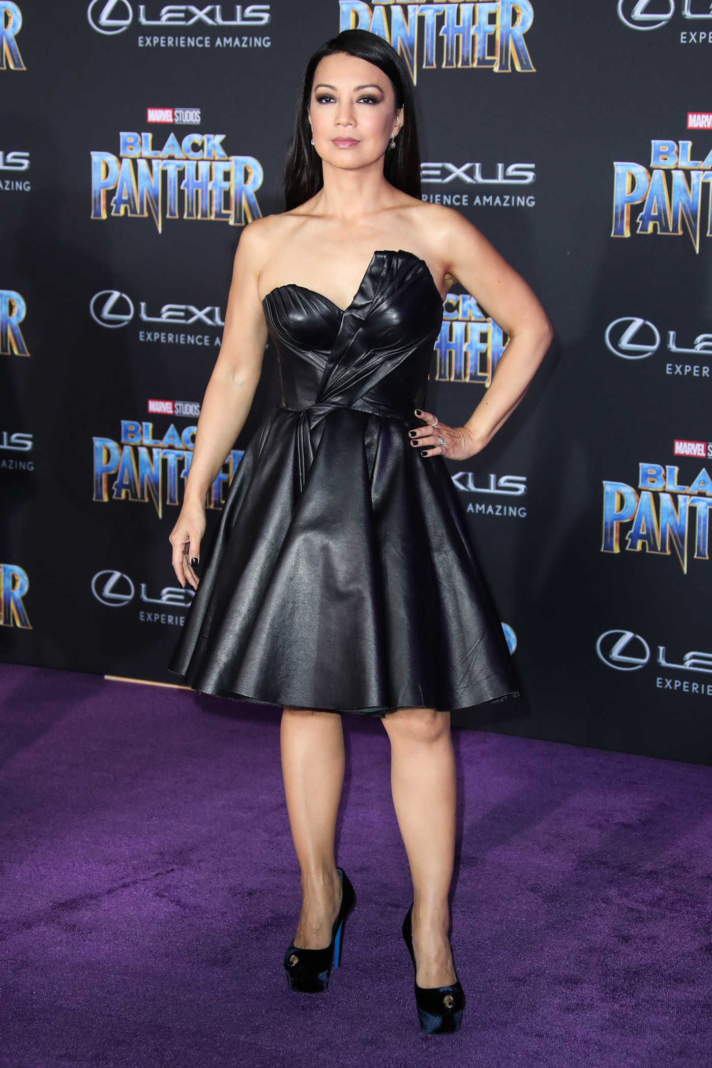 Ming-Na Wen at the Black Panther Premiere in Hollywood 01/29/2018