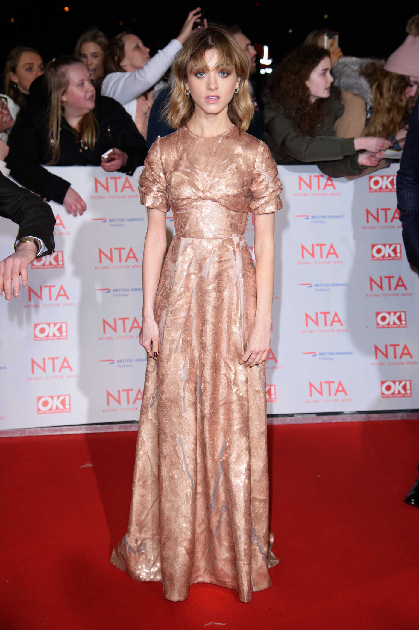 Natalia Dyer at the 24th National Television Awards in London 01/24/2018