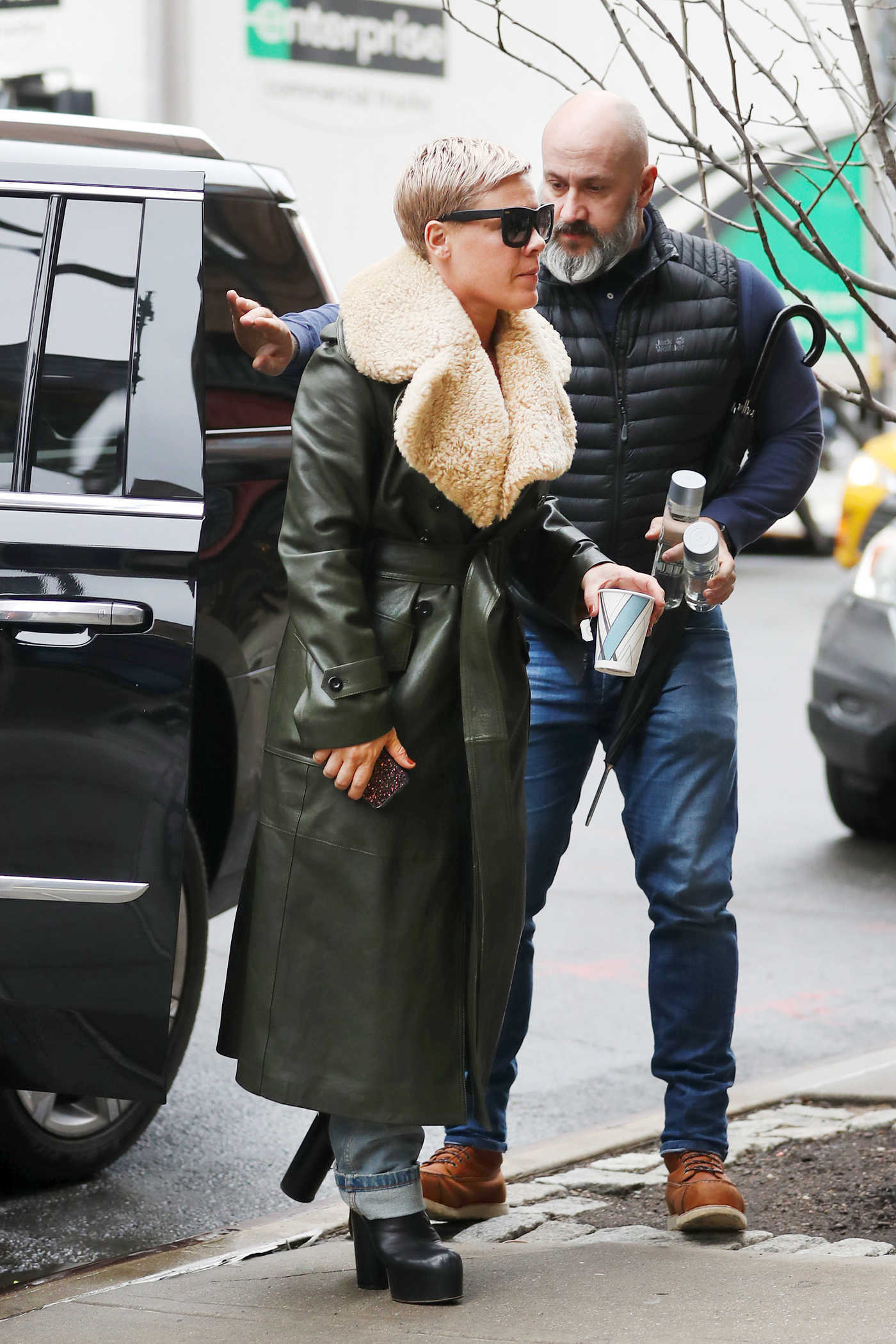 Pink Arrives at Her Hotel in New York City 01/28/2018