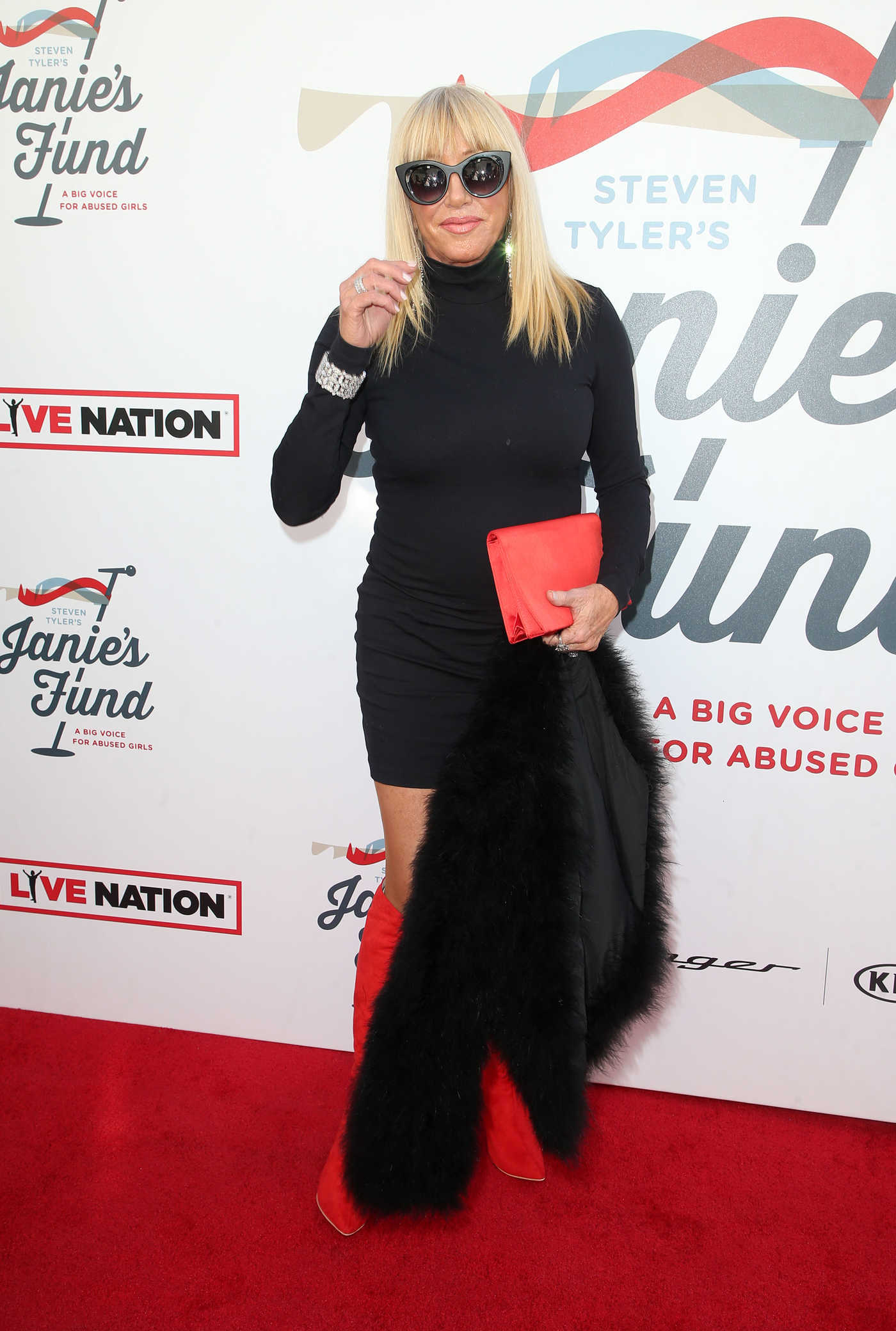 Suzanne Somers at Inaugural Janie's Fund Gala and Grammy Awards Viewing Party in LA 01/28/2018