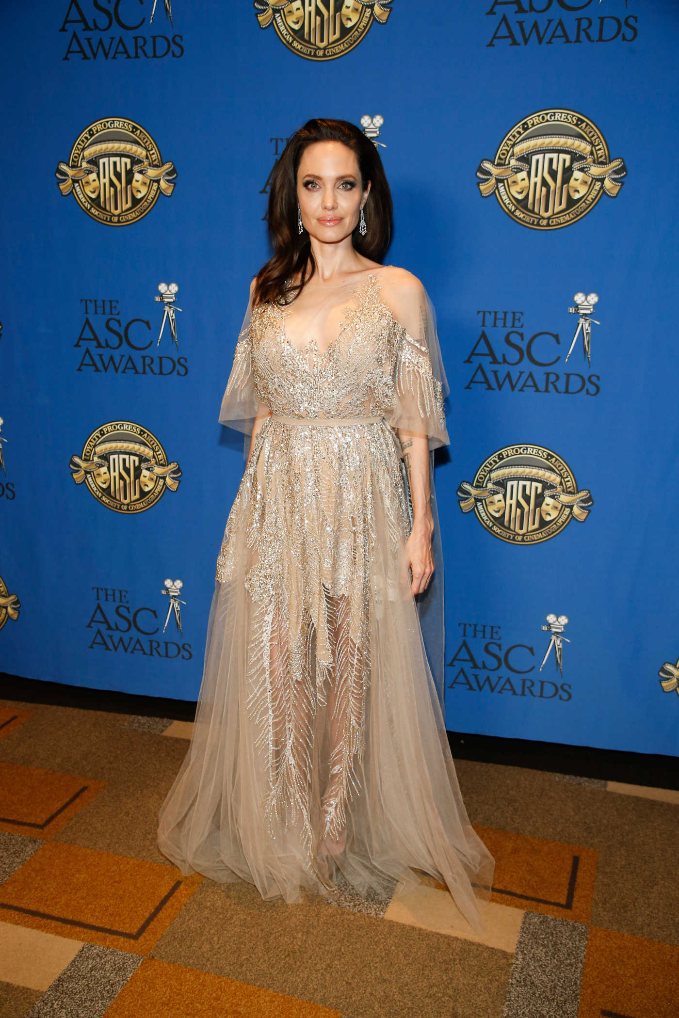 Angelina Jolie at the 32nd ASC Awards at the Ray Dolby Ballroom in Los Angeles 02/17/2018