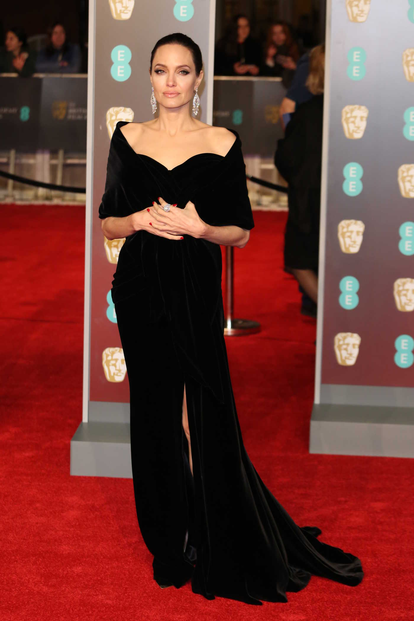 Angelina Jolie at the 71st British Academy Film Awards at Royal Albert Hall in London 02/18/2018