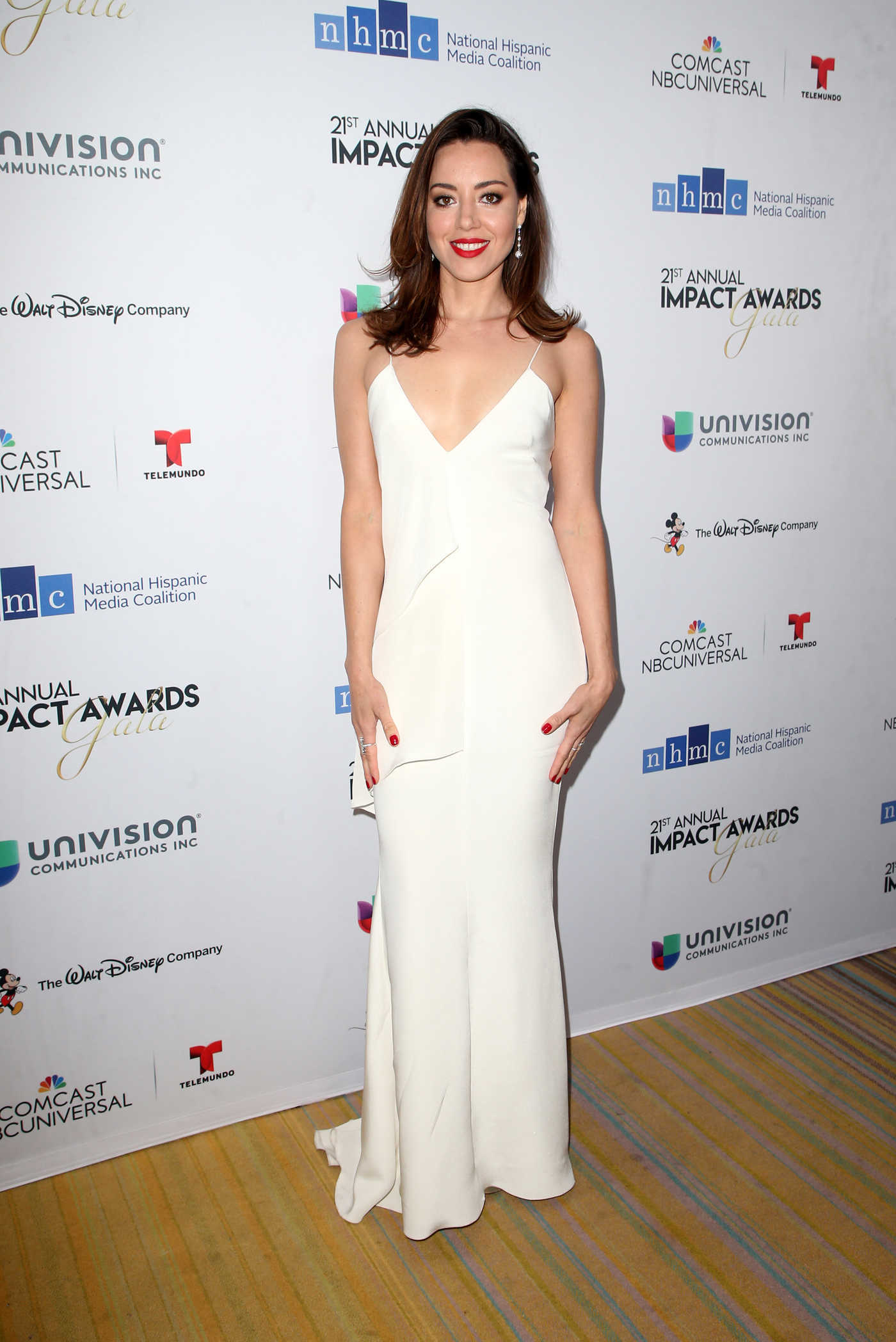 Aubrey Plaza at the 21th Annual National Hispanic Media Coalition Impact Awards Gala in Beverly Hills 02/23/2018