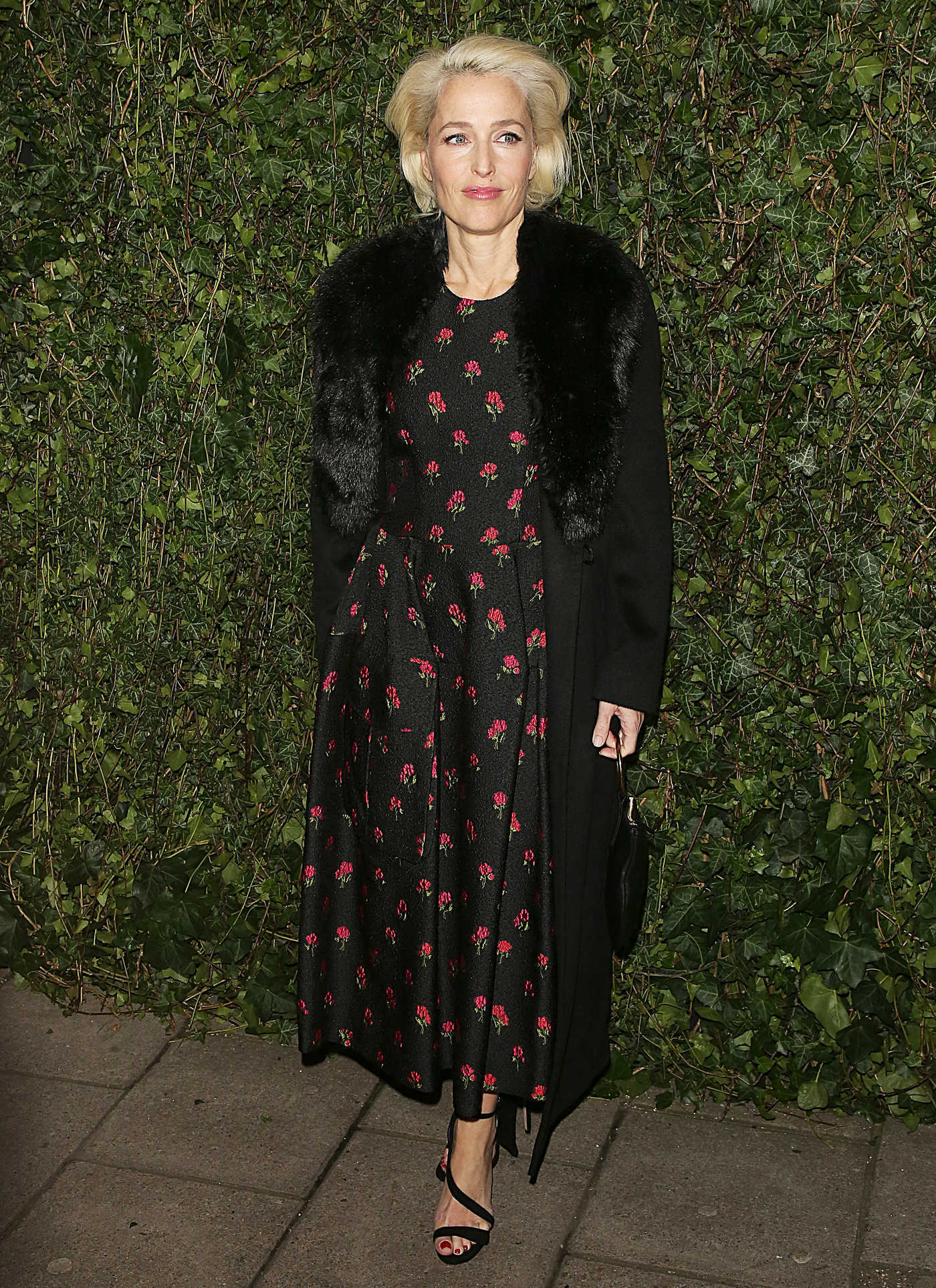 Gillian Anderson at 2018 Charles Finch and Chanel Pre-Bafta Party at Mark's Club Mayfair in London 02/17/2018