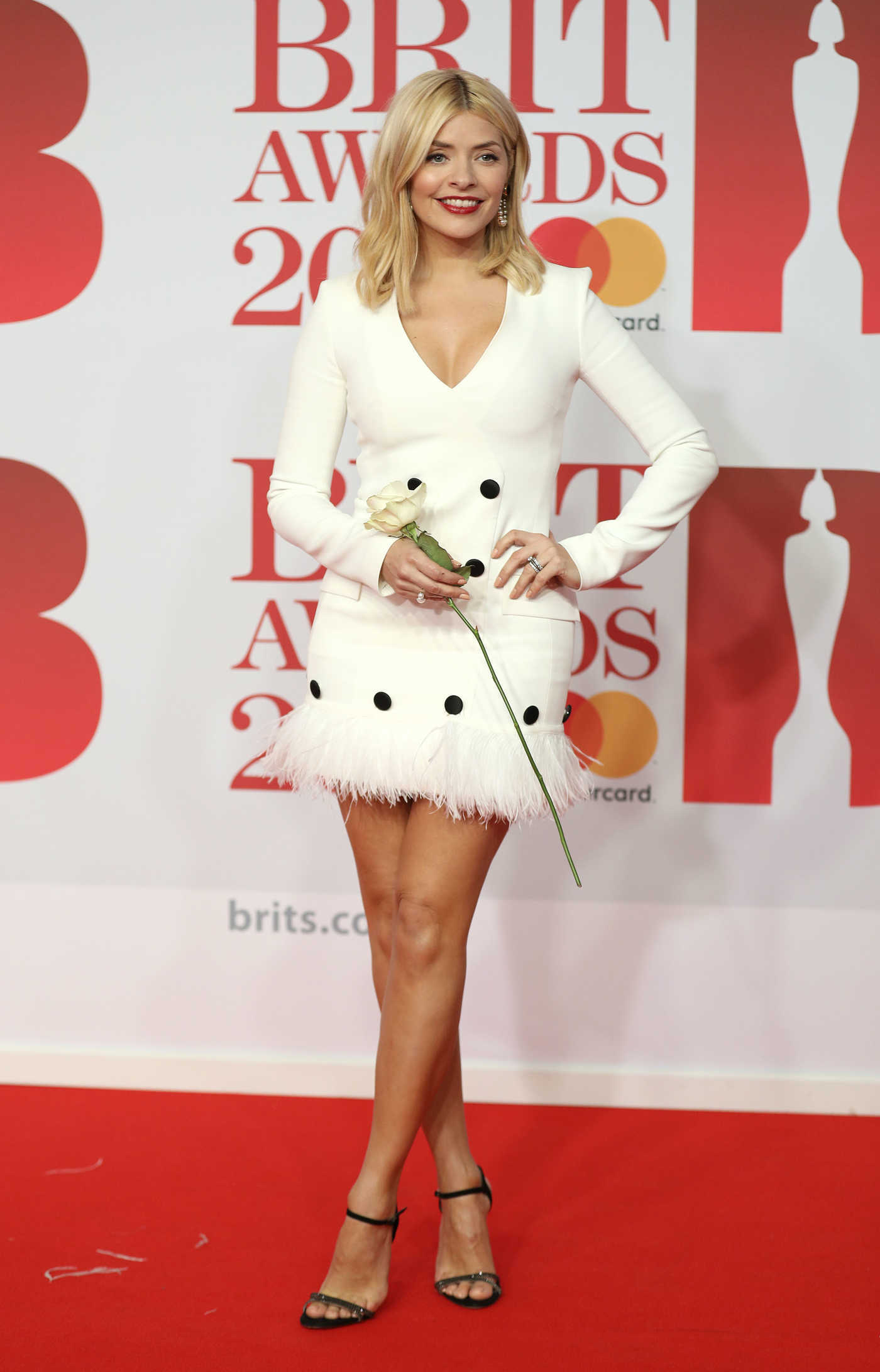Holly Willoughby Attends the 2018 Brit Awards at the O2 Arena in London 02/21/2018