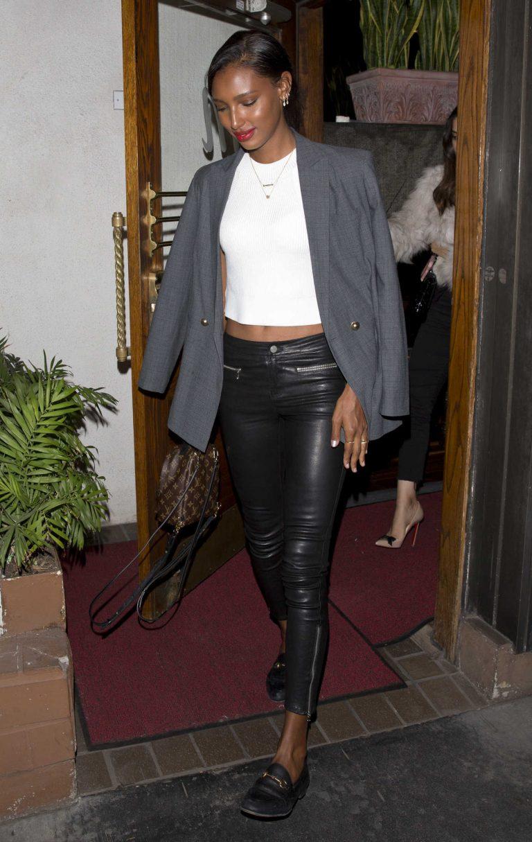 Jasmine Tookes Leaves Italian Restaurant Madeo in West Hollywood 02/28/2018-1