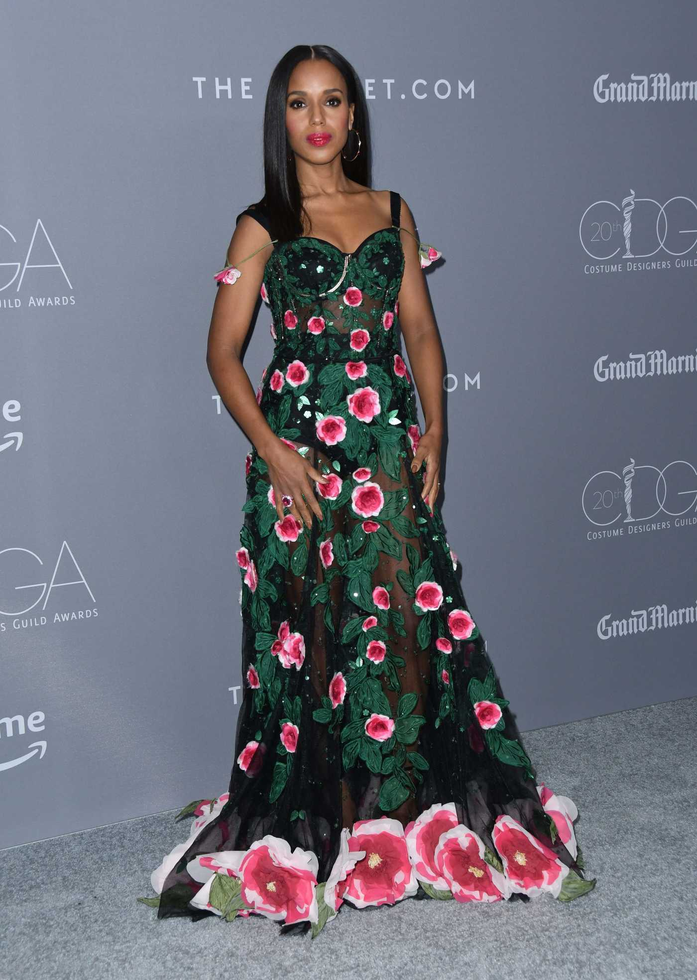 Kerry Washington at the 20th Costume Designers Guild Awards in Beverly Hills 02/20/2018