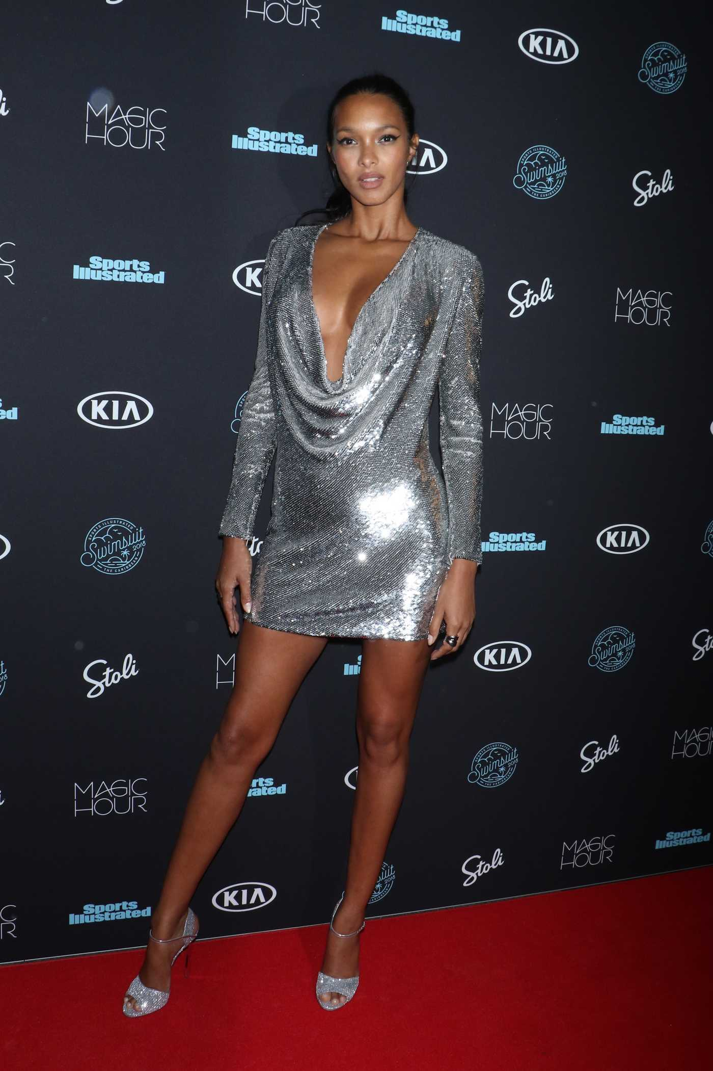 Lais Ribeiro at 2018 Sports Illustrated Swimsuit Launch Event in New York 02/14/2018