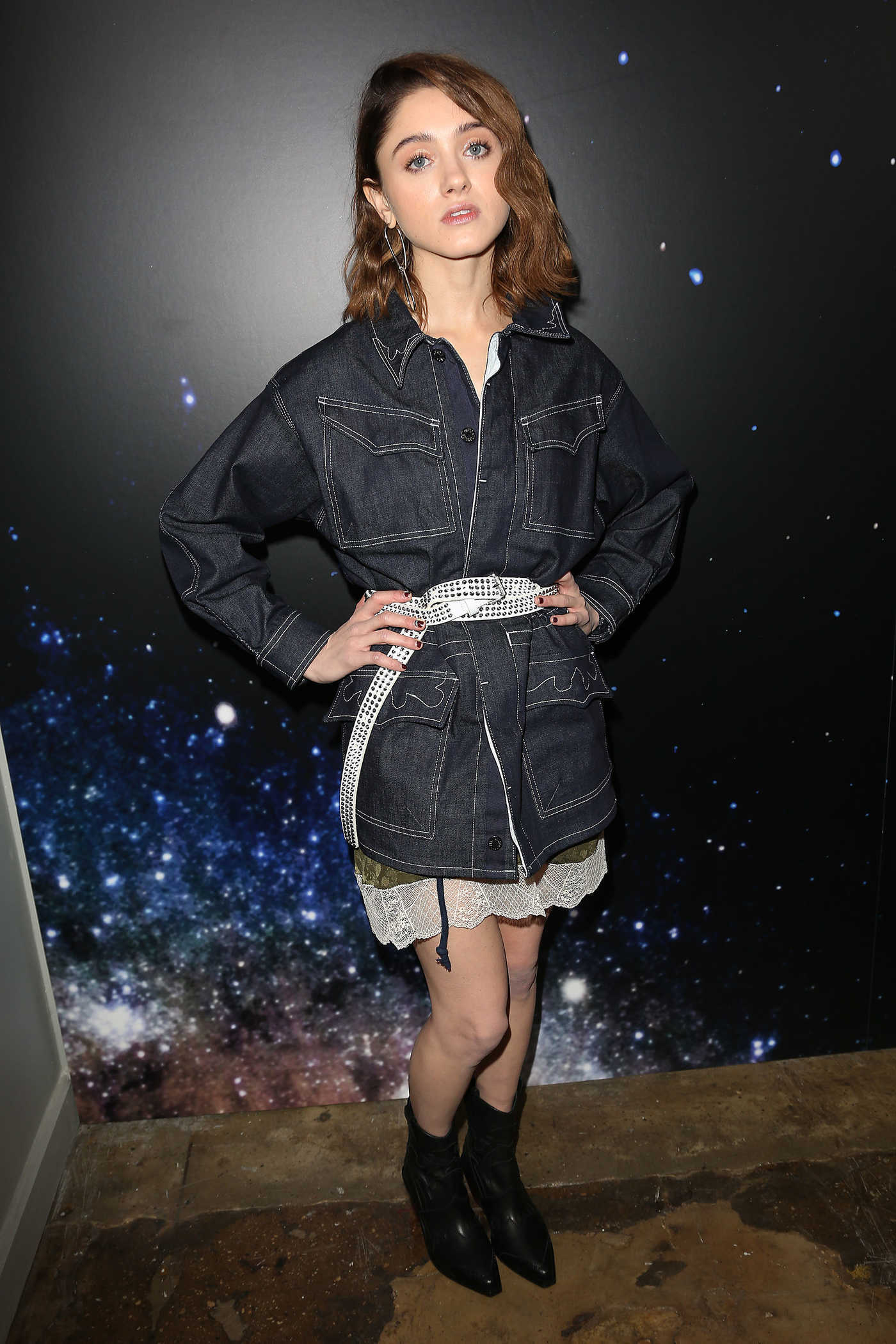 Natalia Dyer at the Zadig and Voltaire Fashion Show During New York Fashion Week in New York City 02/12/2018