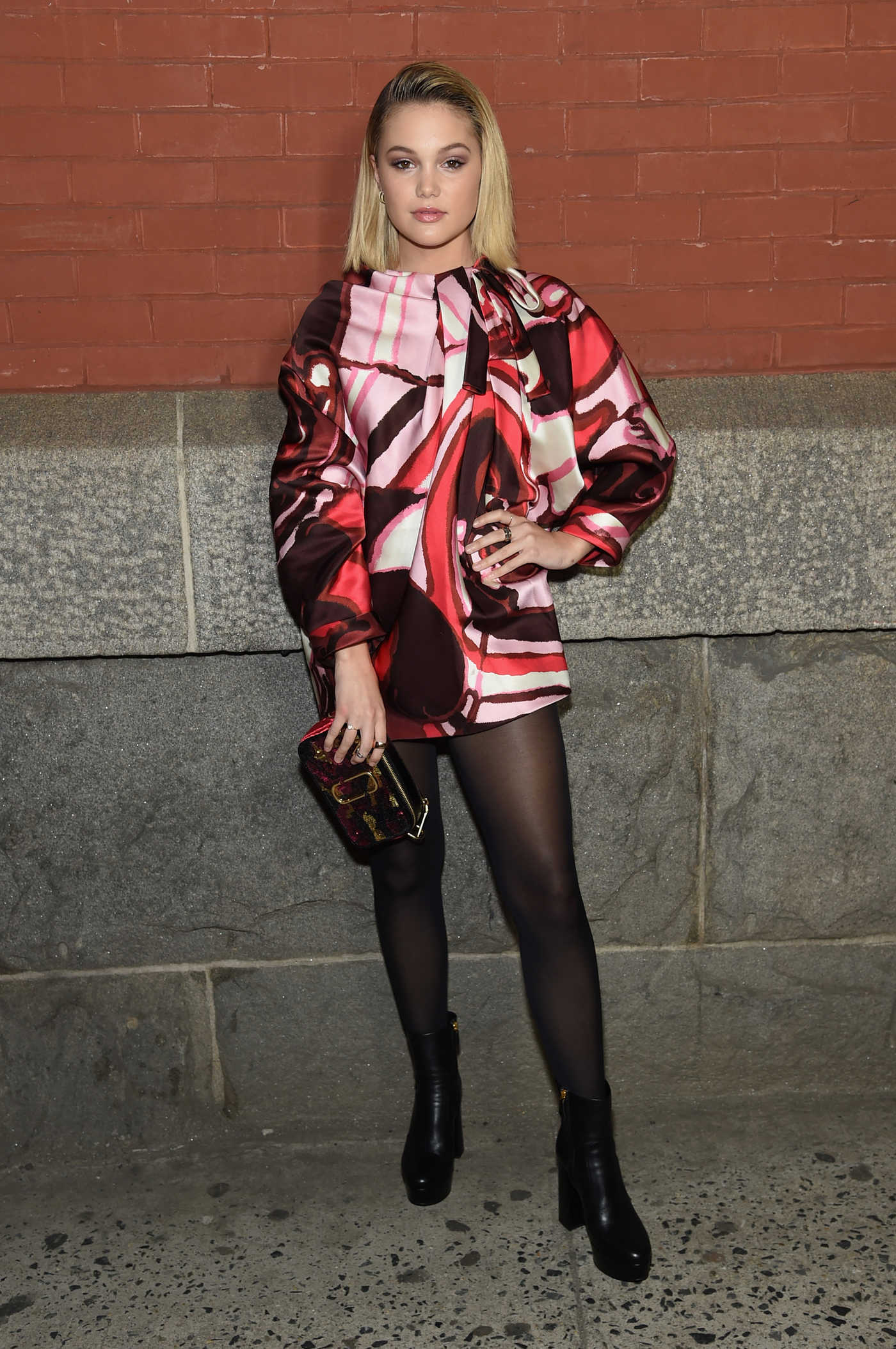 Olivia Holt at the Marc Jacobs Fashion Show During New York Fashion Week in New York City 02/14/2018