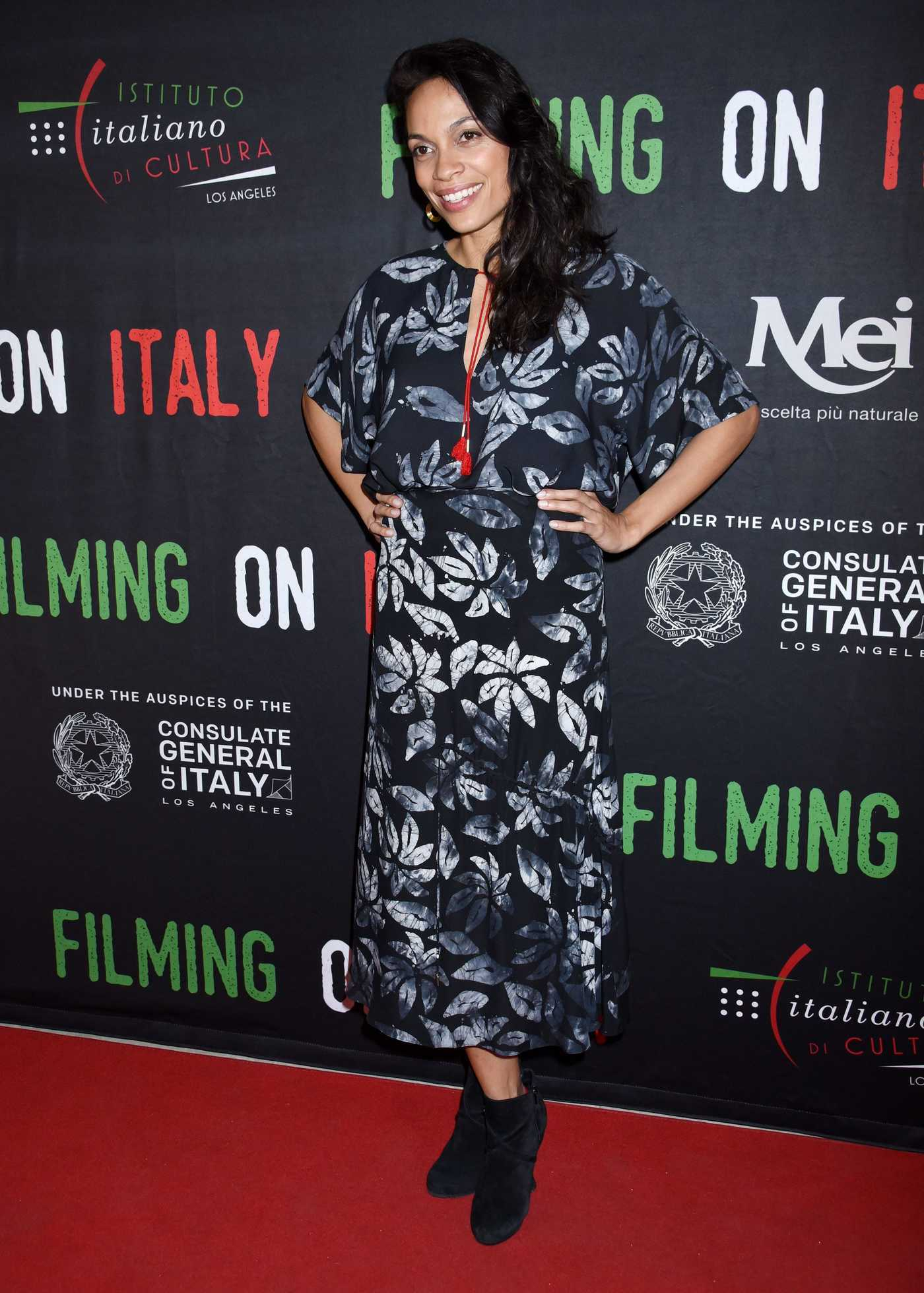Rosario Dawson at The Social Justice Filming in Italy Awards in Los Angeles 02/02/2018