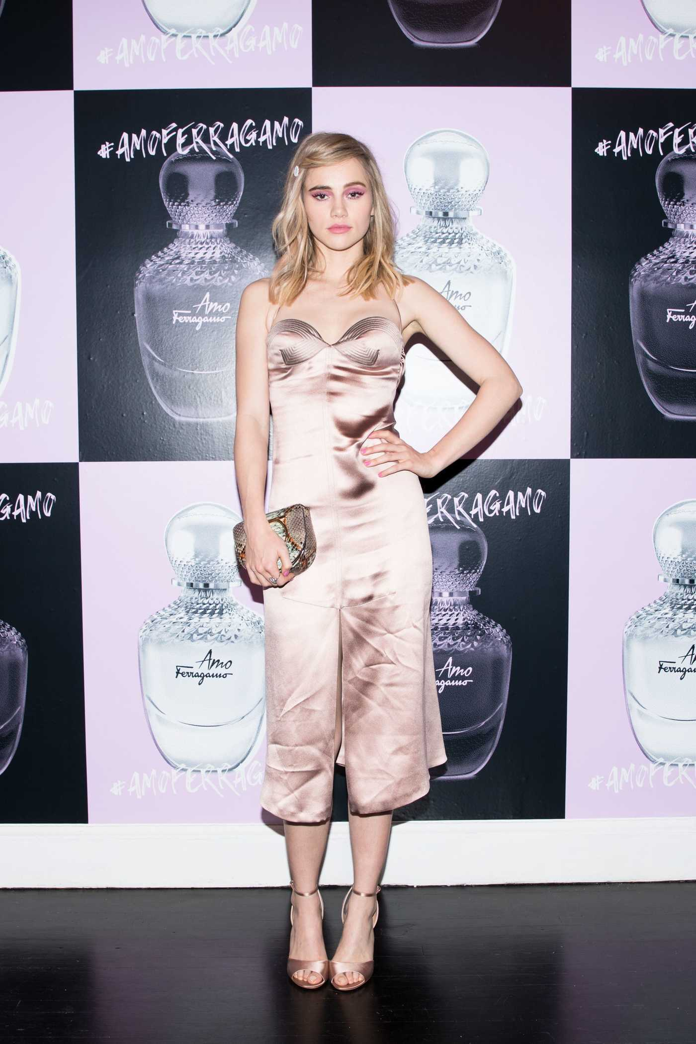 Suki Waterhouse at Ferragamo Event in Midtown, NYC 02/06/2018