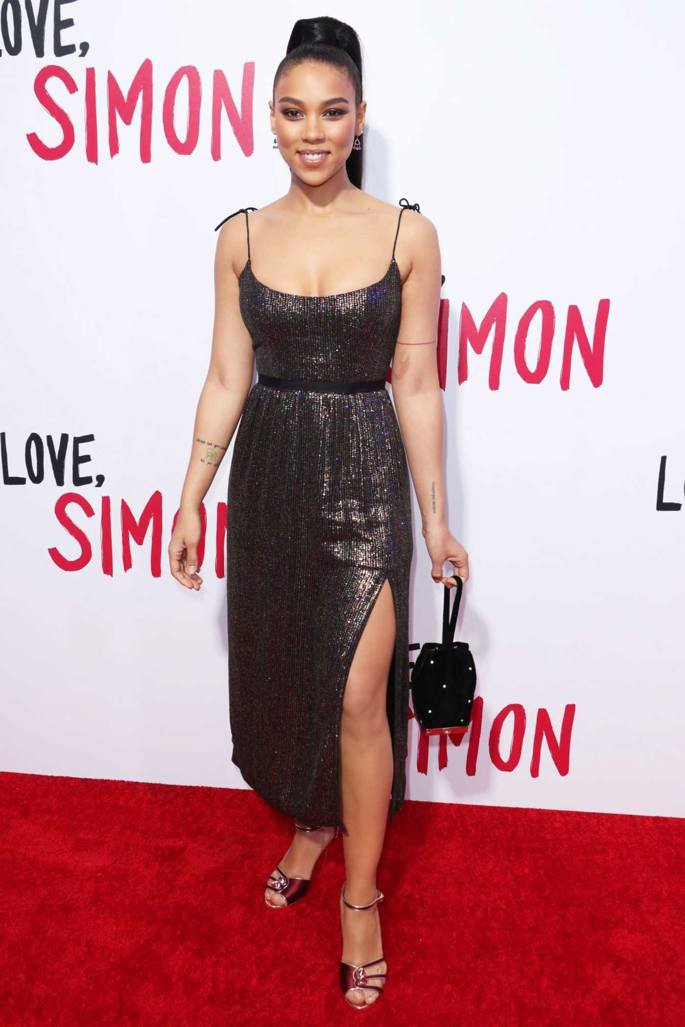 Alexandra Shipp at the Love, Simon Premiere in Los Angeles 03/13/2018