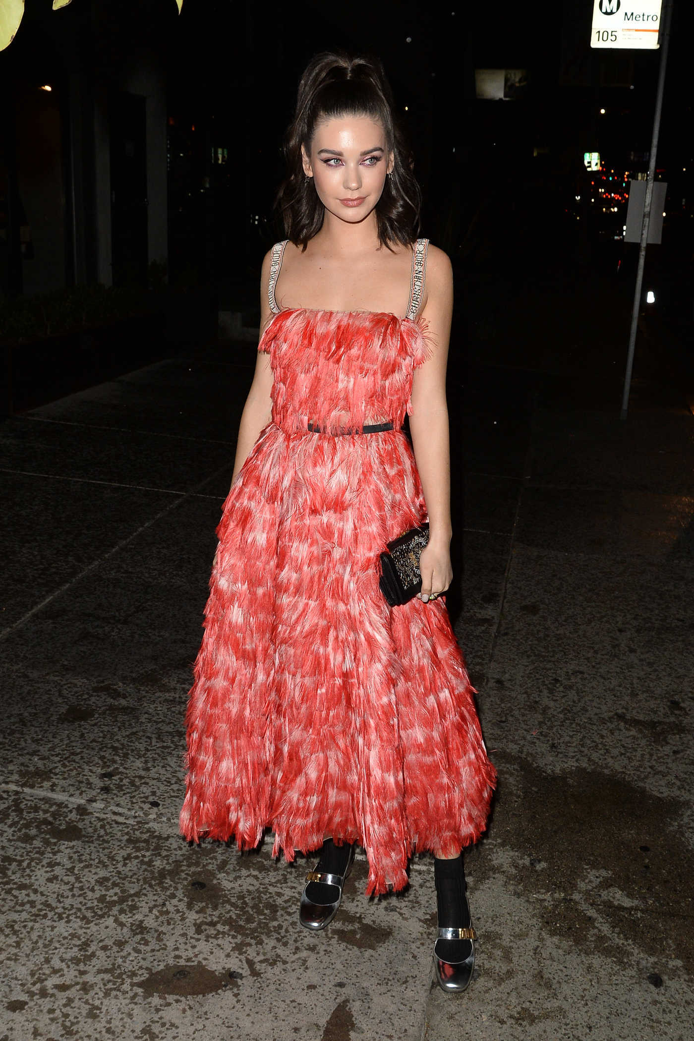 Amanda Steele Arrives at the Dior Addict Lacquer Pump Launch Party in West Hollywood 03/14/2018