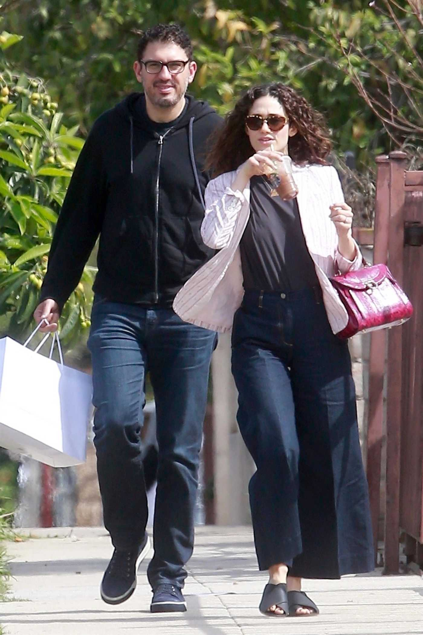 Emmy Rossum Heads to a Birthday Party with Sam Esmail in LA 03/18/2018