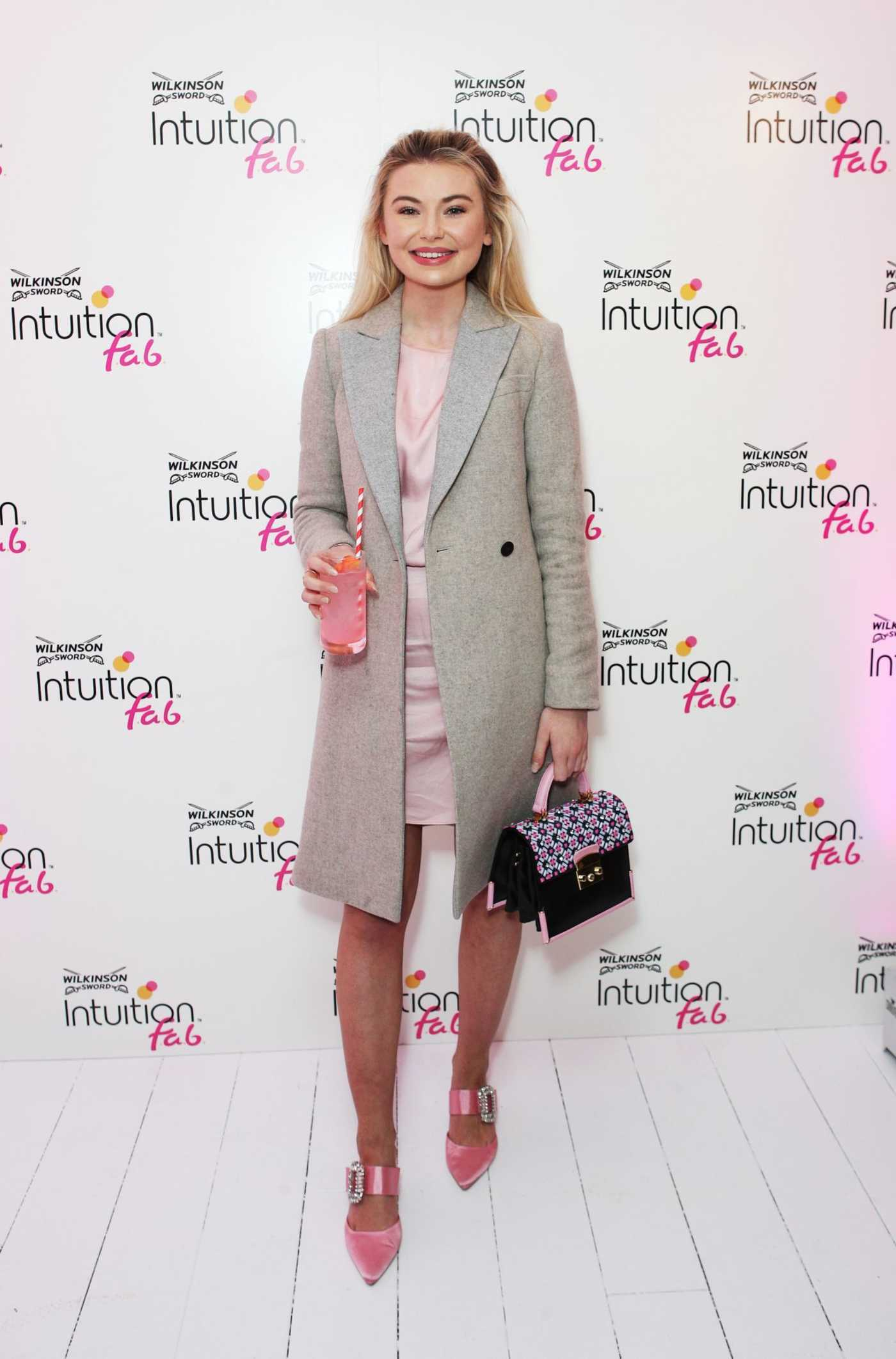 Georgia Toffolo at the Wilkinson Sword Intuition Launch Party in London 03/28/2018
