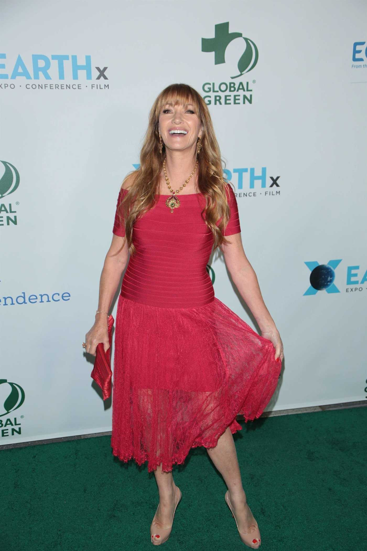 Jane Seymour at the 15th Annual Global Green Pre-Oscar Gala in Los Angeles 02/28/2018