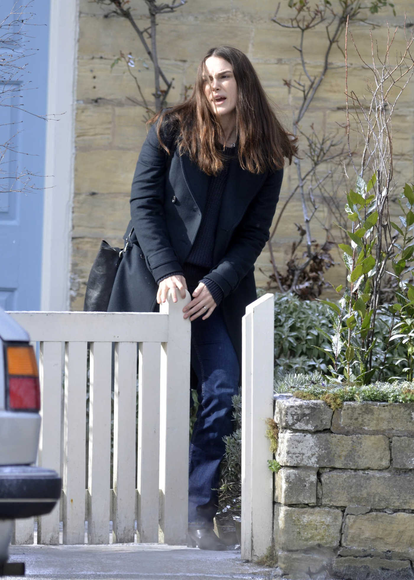 Keira Knightley on the Set of Official Secrets in Wetherby, West Yorkshire 03/18/2018