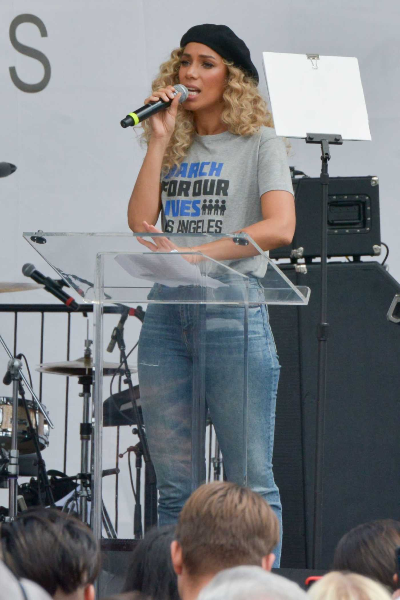 Leona Lewis Performs at the March for Our Lives in Los Angeles 03/24/2018