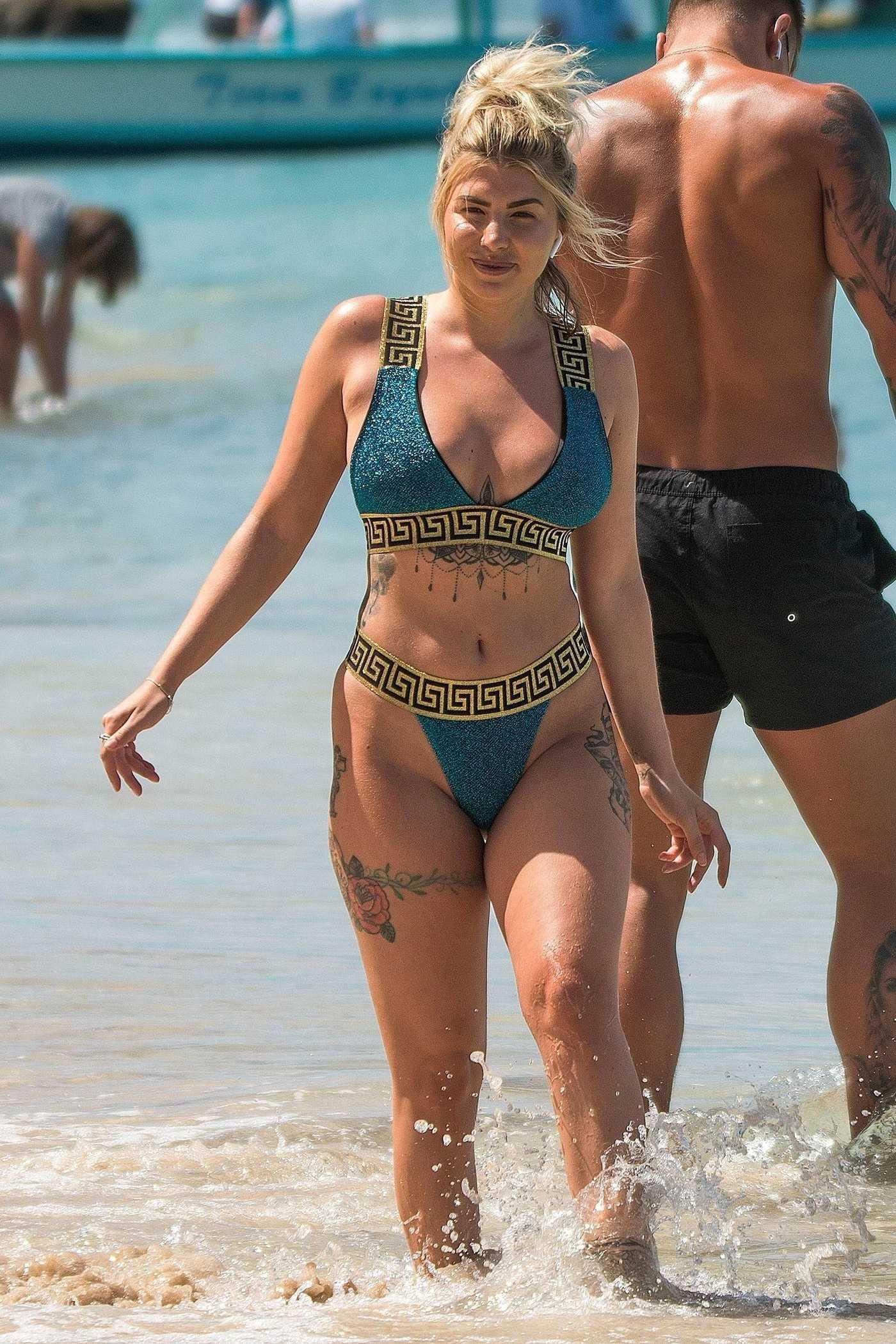 Olivia Buckland in Bikini on the Beach in Barbados 03/19/2018