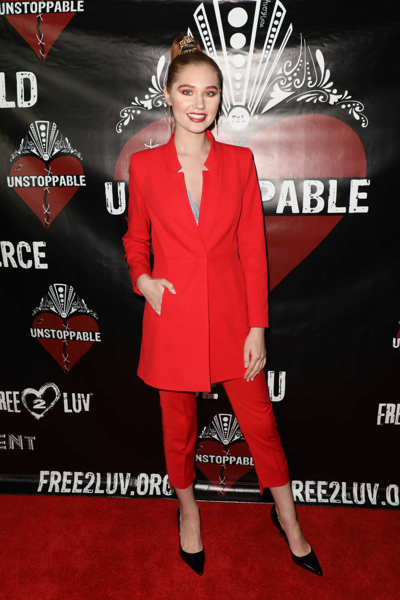 Serena Laurel at Unstoppable Fundraiser Event for Free2Luv in Los Angeles 03/10/2018