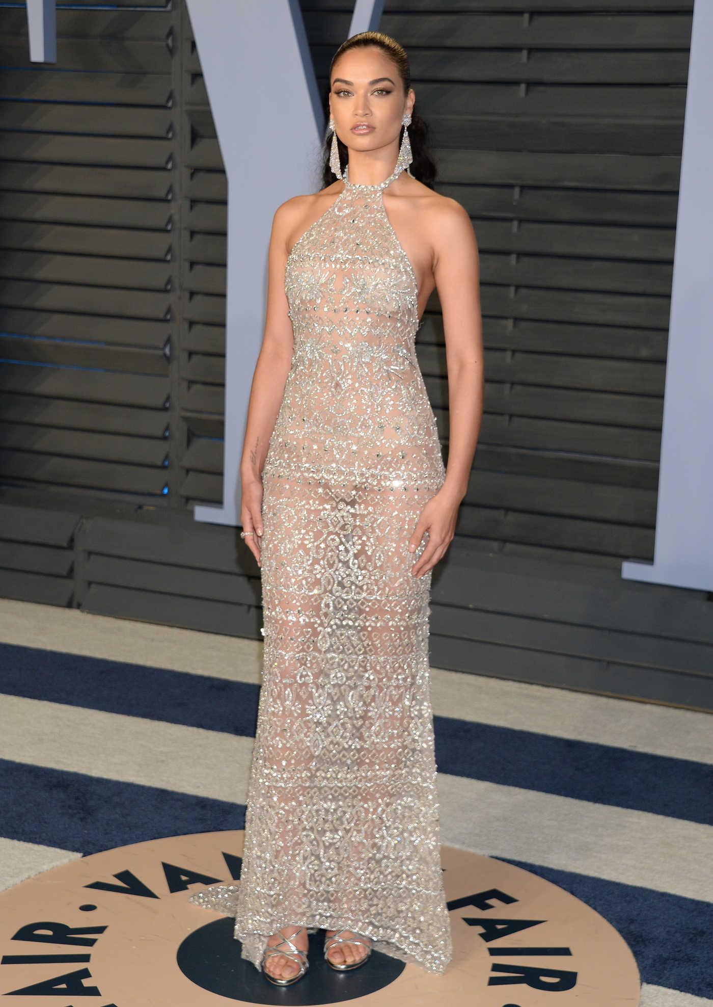 Shanina Shaik at 2018 Vanity Fair Oscar Party in Beverly Hills 03/04/2018